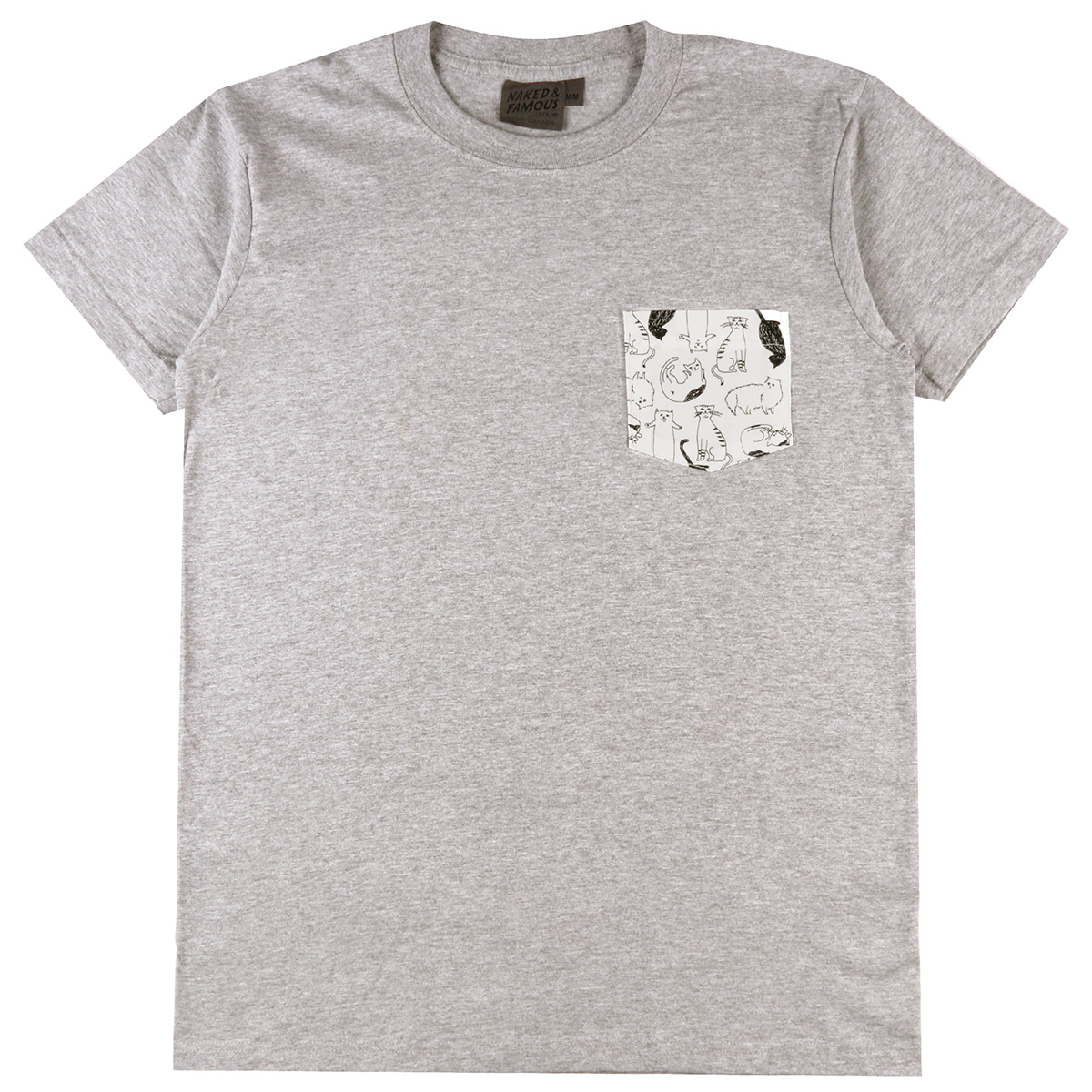 HEATHER GREY + CATS SKETCHES - Pocket Tee