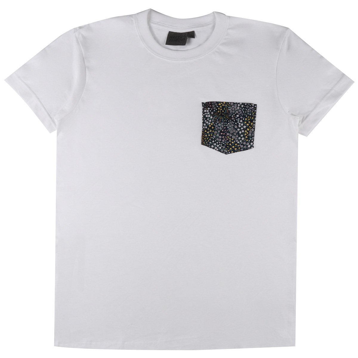 WHITE + aLLOVER FLOWERS - Pocket Tee