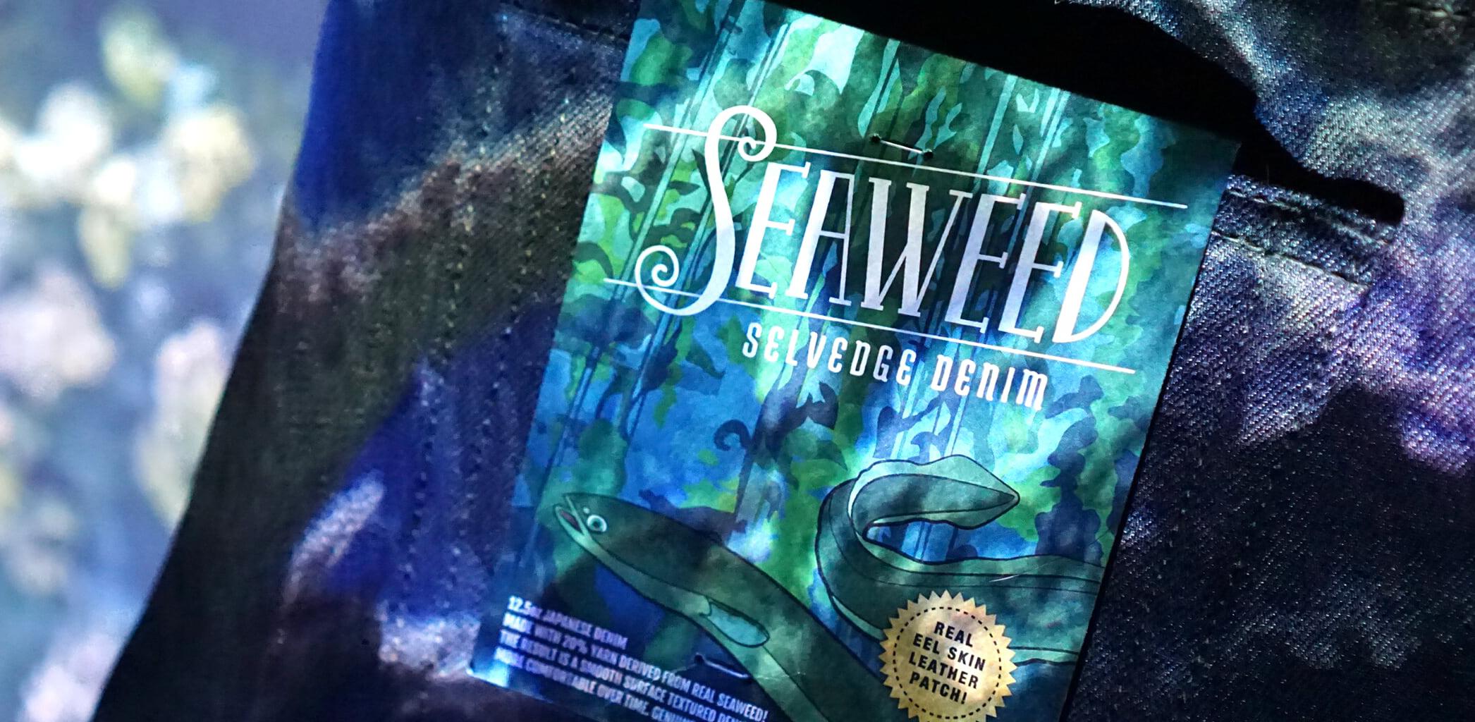 Seaweed selvedge denim under water vibe