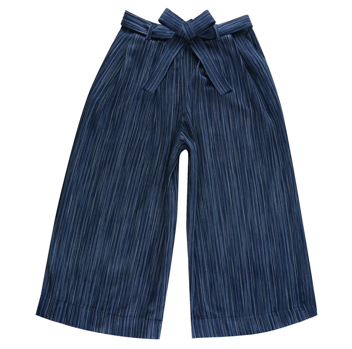INDIGO STRIPES - Wide Pants