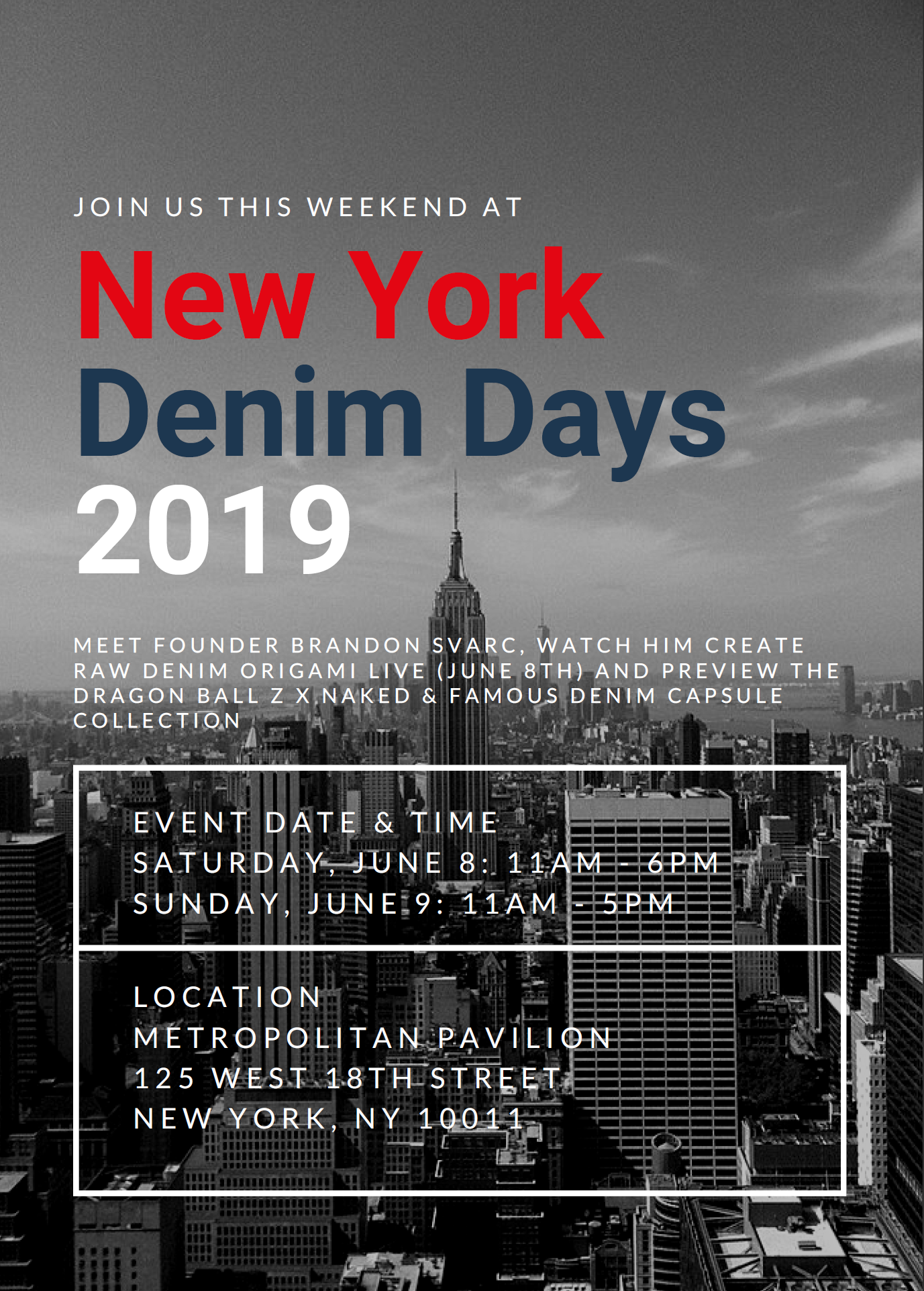 New York Denim Days 2019 Flyer