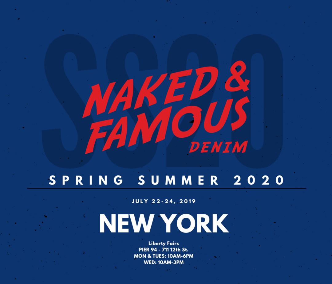 spring summer 2020 nyc tradeshow flyer