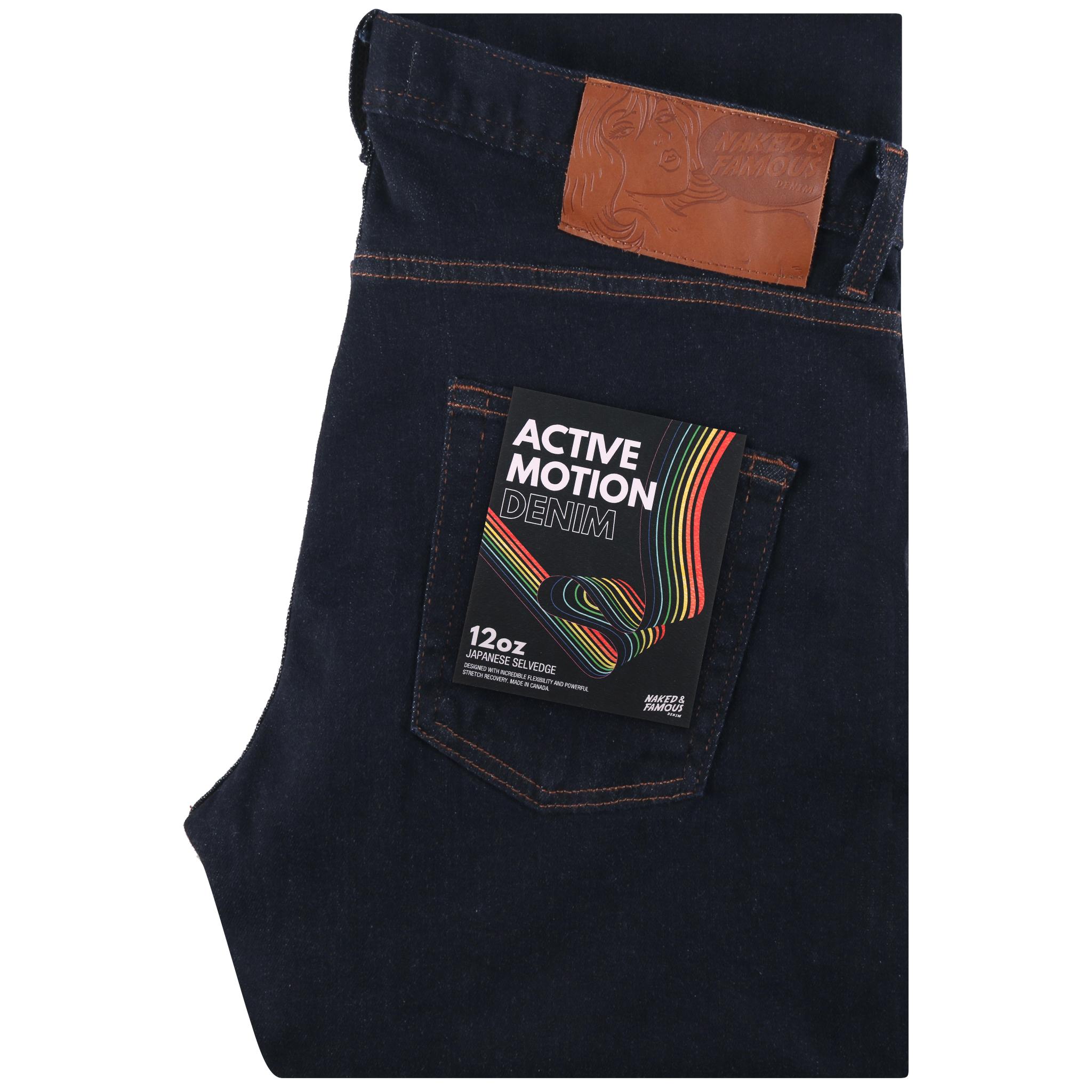 Active Motion Denim Jean Folded View