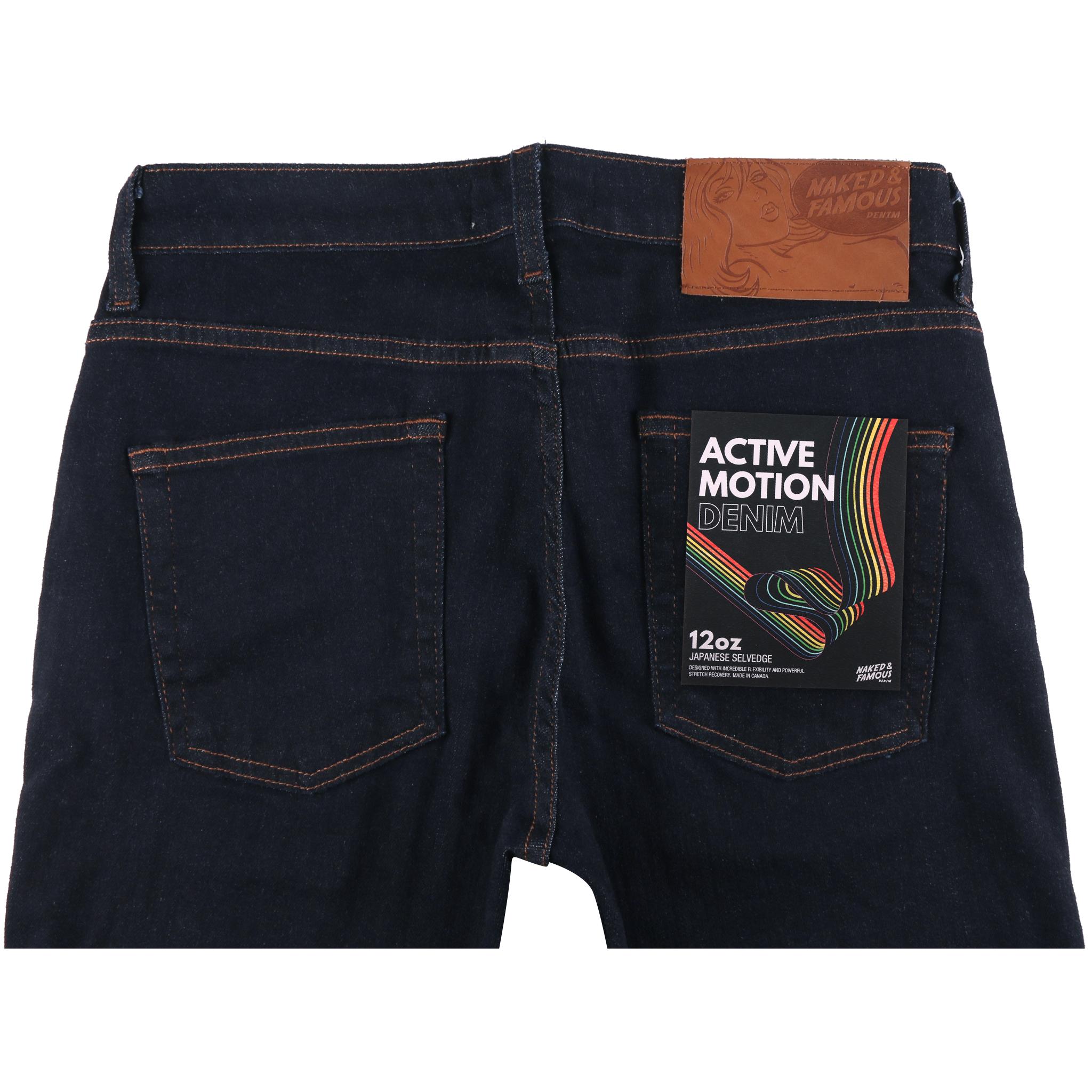 Active Motion Denim Jean Back View