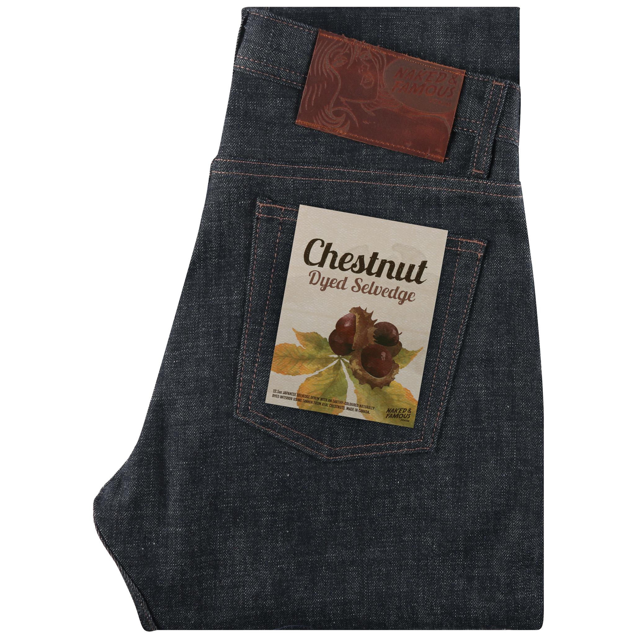 Chestnut Dyed Selvedge - Super Guy / Weird Guy / Easy Guy