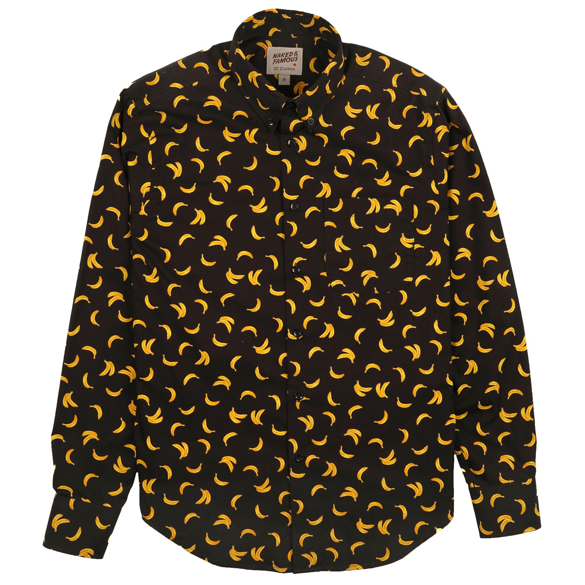 Banana Print - Black - Easy Shirt