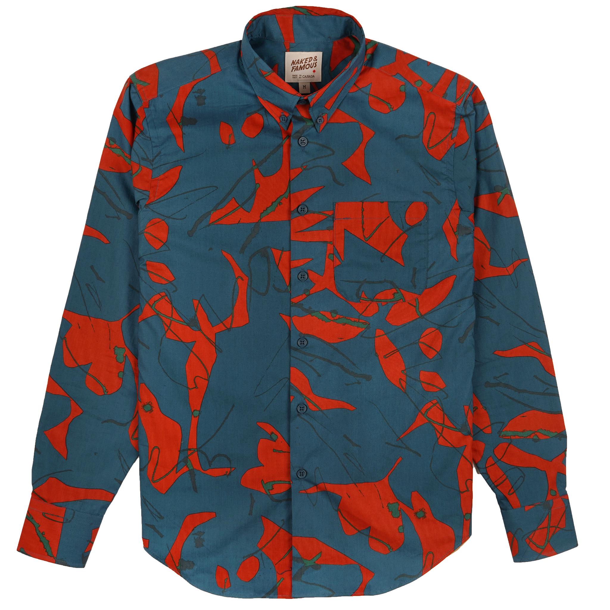 Abstract Mod Print - Teal - Easy Shirt