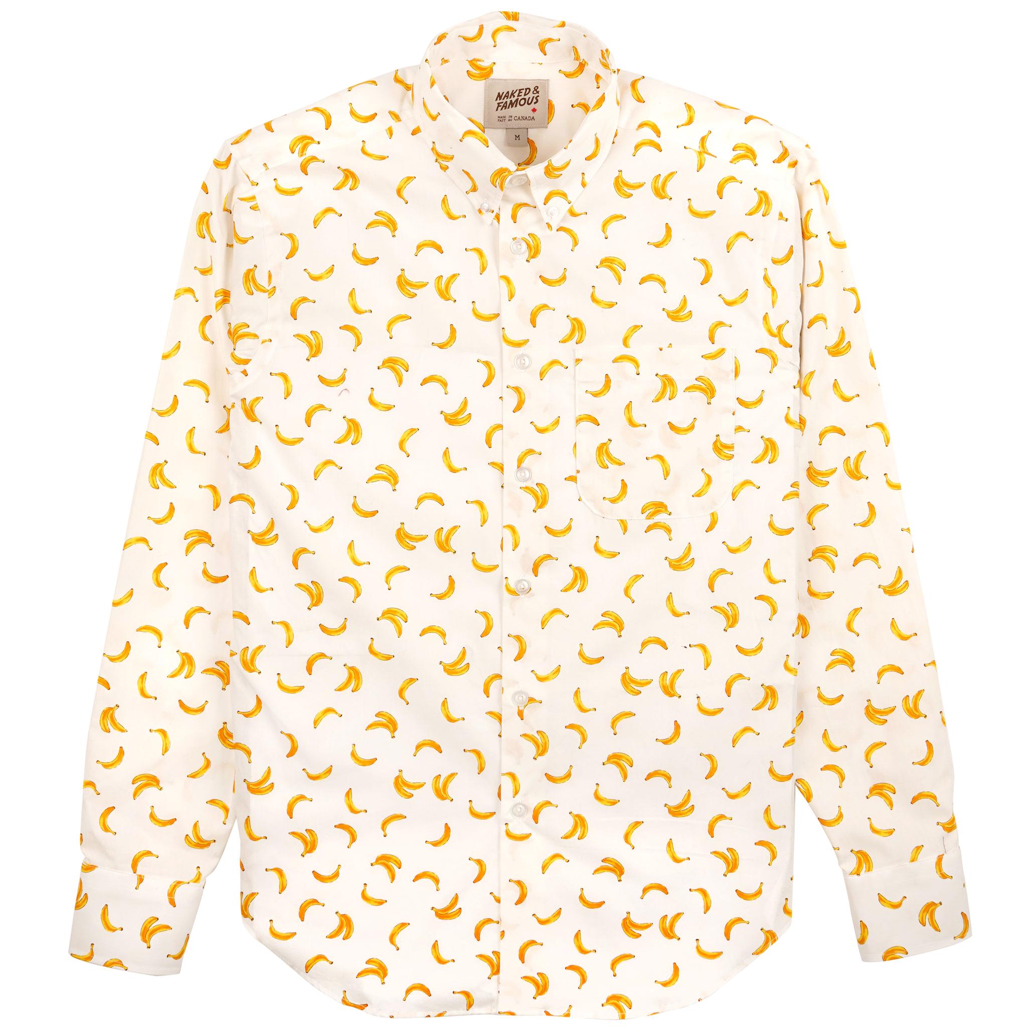 Banana Print - White - Easy Shirt
