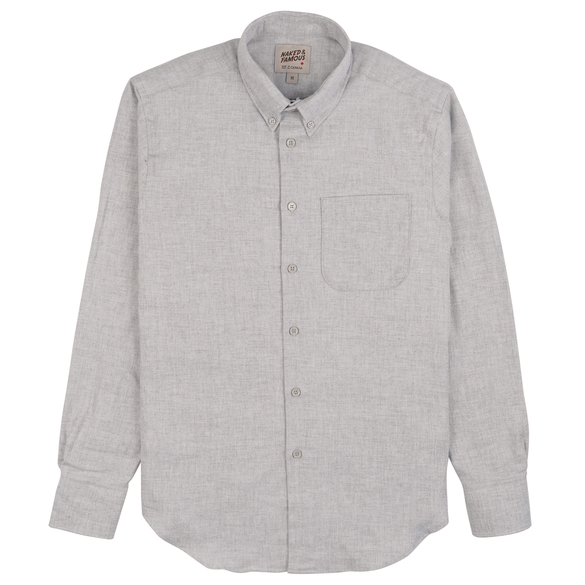 CLassic Flannel - Pale Grey - Easy Shirt