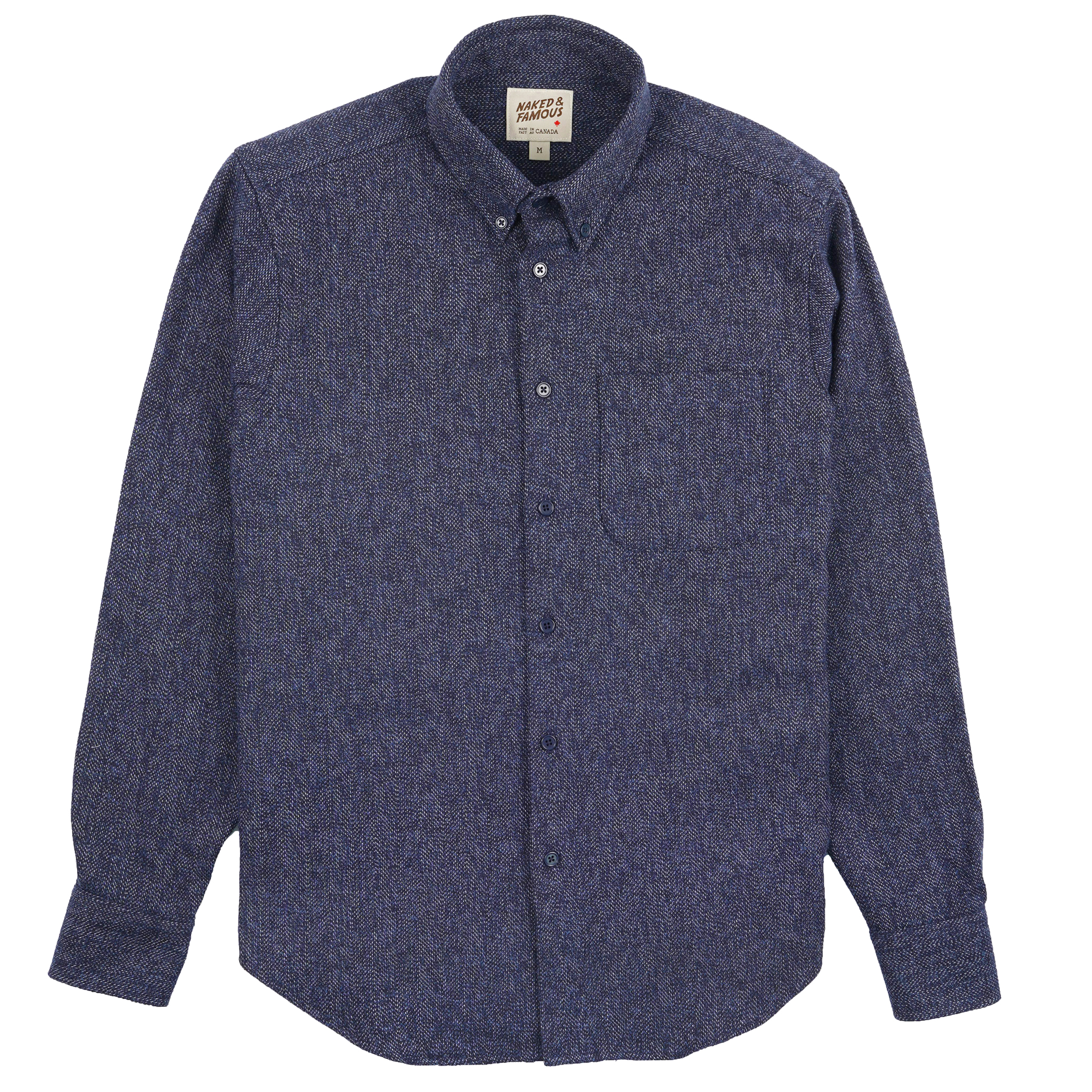 Cotton Tweed - Blue - Easy Shirt