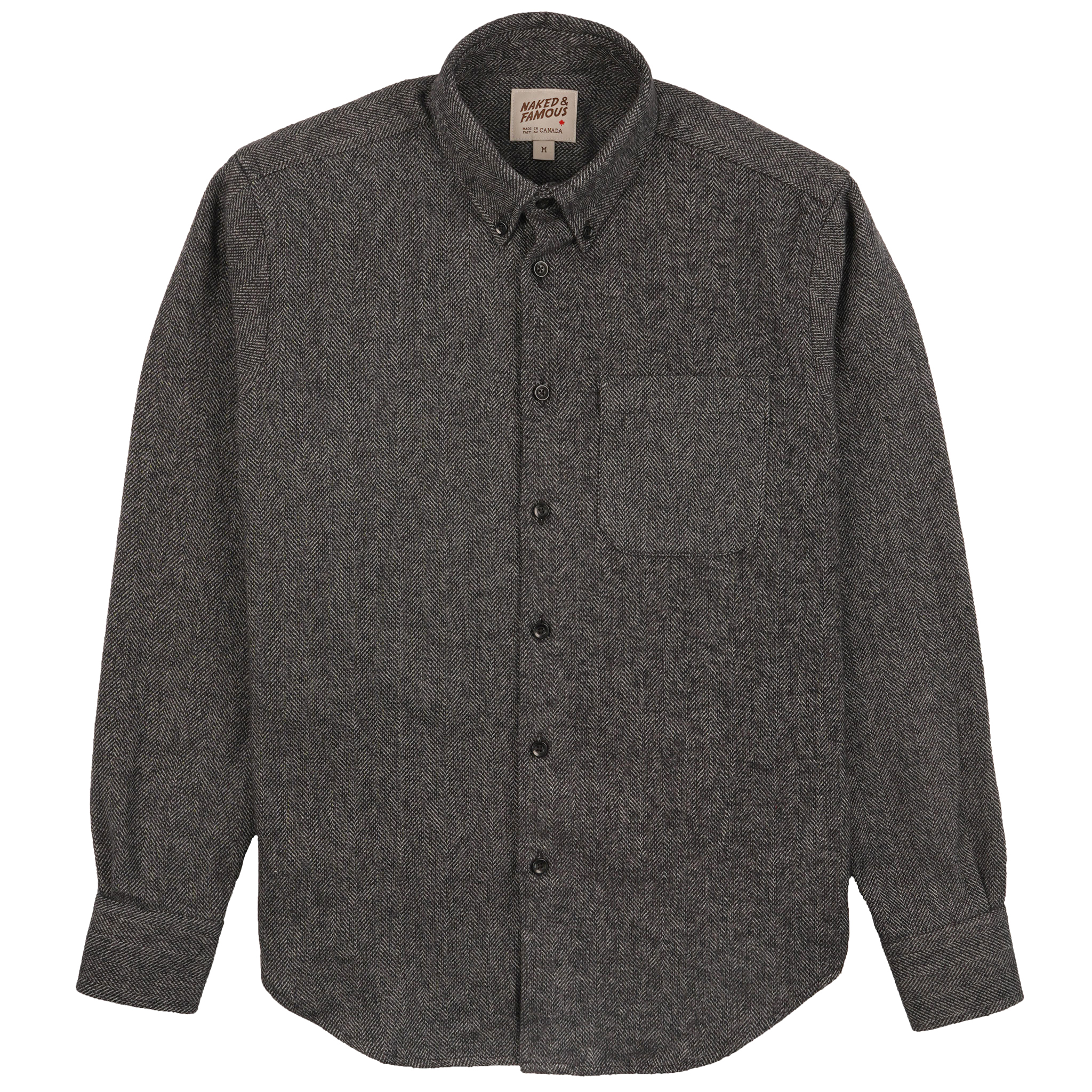 Cotton Tweed - Charcoal - Easy Shirt