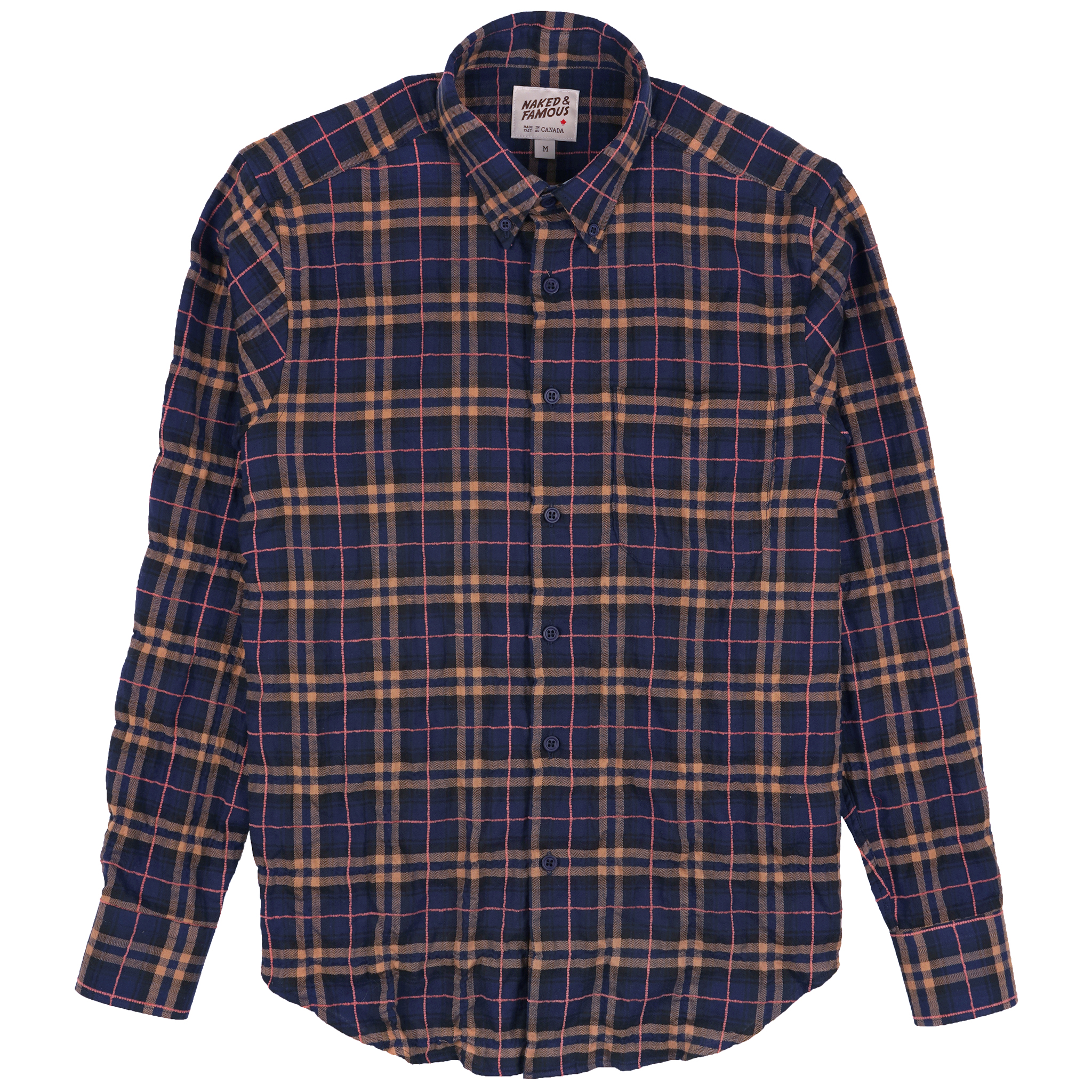 Folk Flannel - Navy/Pink - Easy Shirt