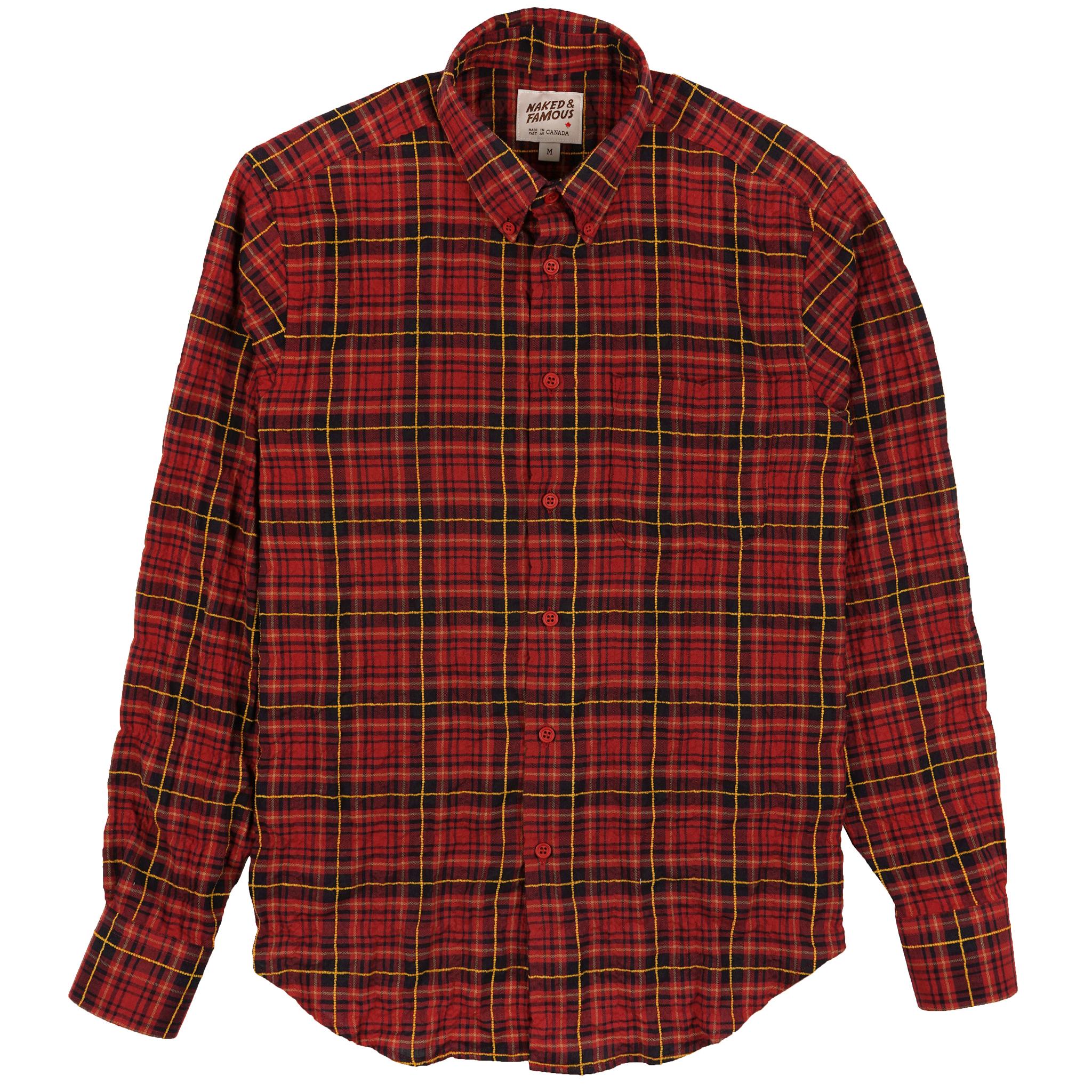 Folk Flannel - Red/Yellow - Easy Shirt