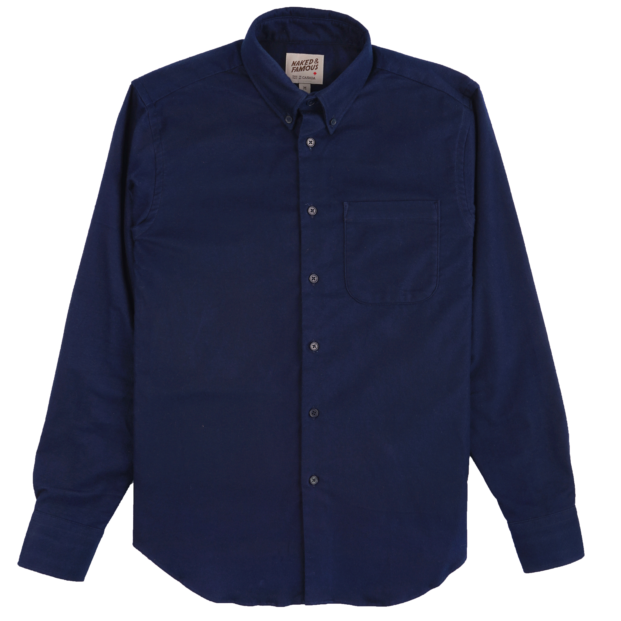 Natural Indigo Dyed Flannel - Easy Shirt