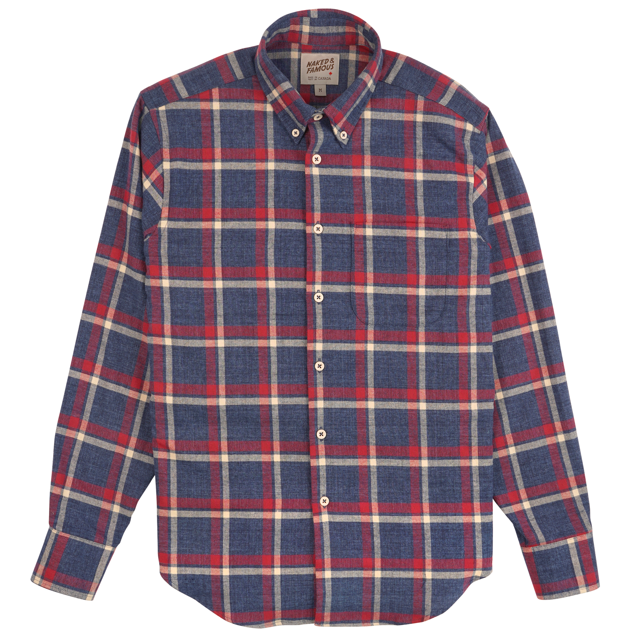 Northern Brushed Flannel - Blue/red - Easy Shirt