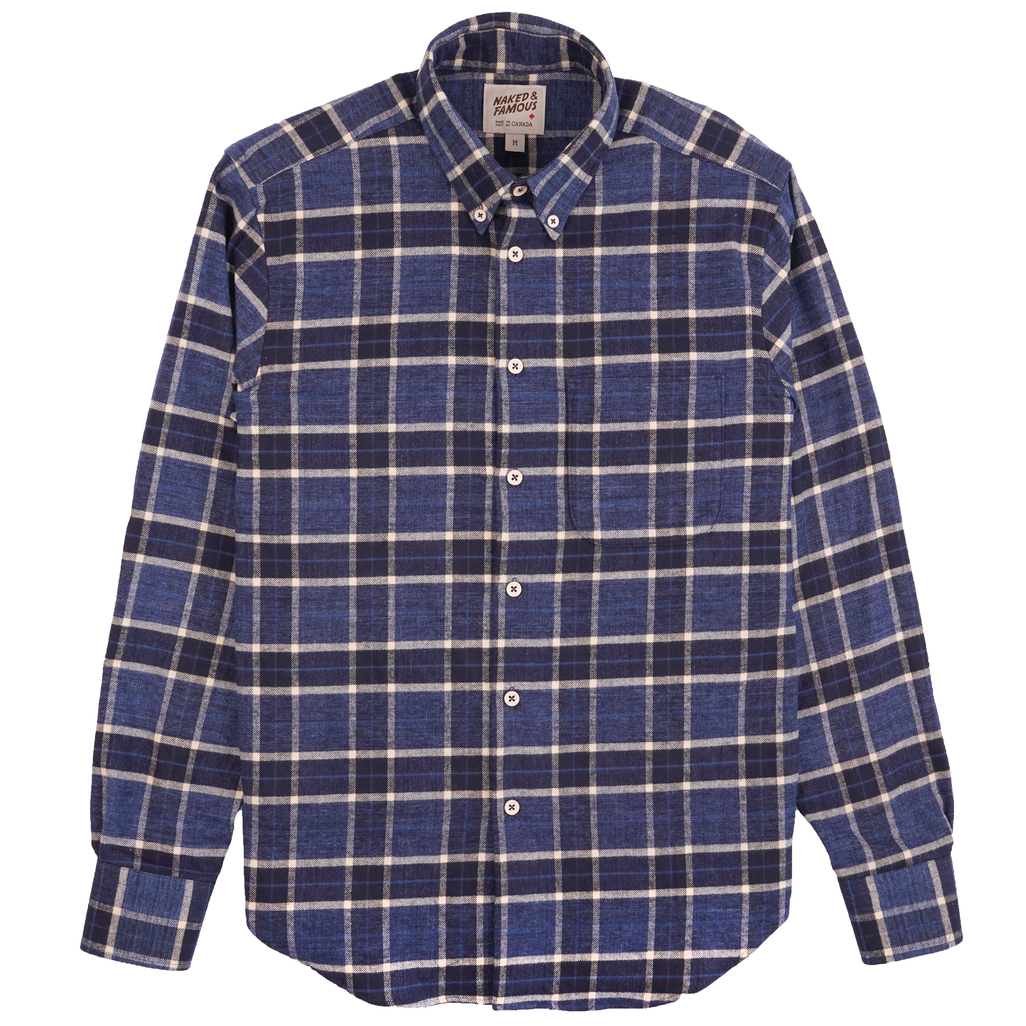 Northern Brushed Flannel - Blue/Navy - Easy Shirt