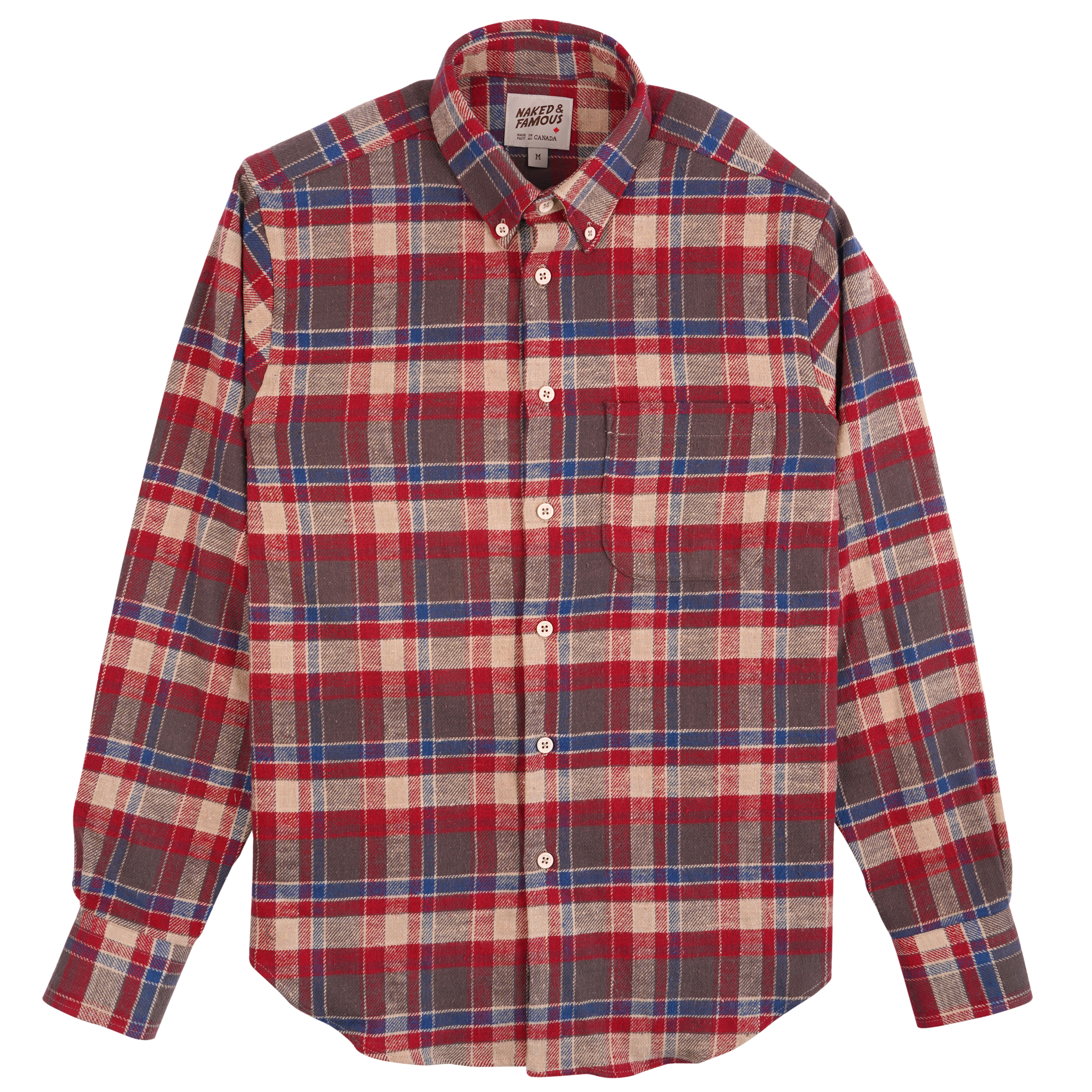 Rustic Nep Flannel - Red - Easy Shirt