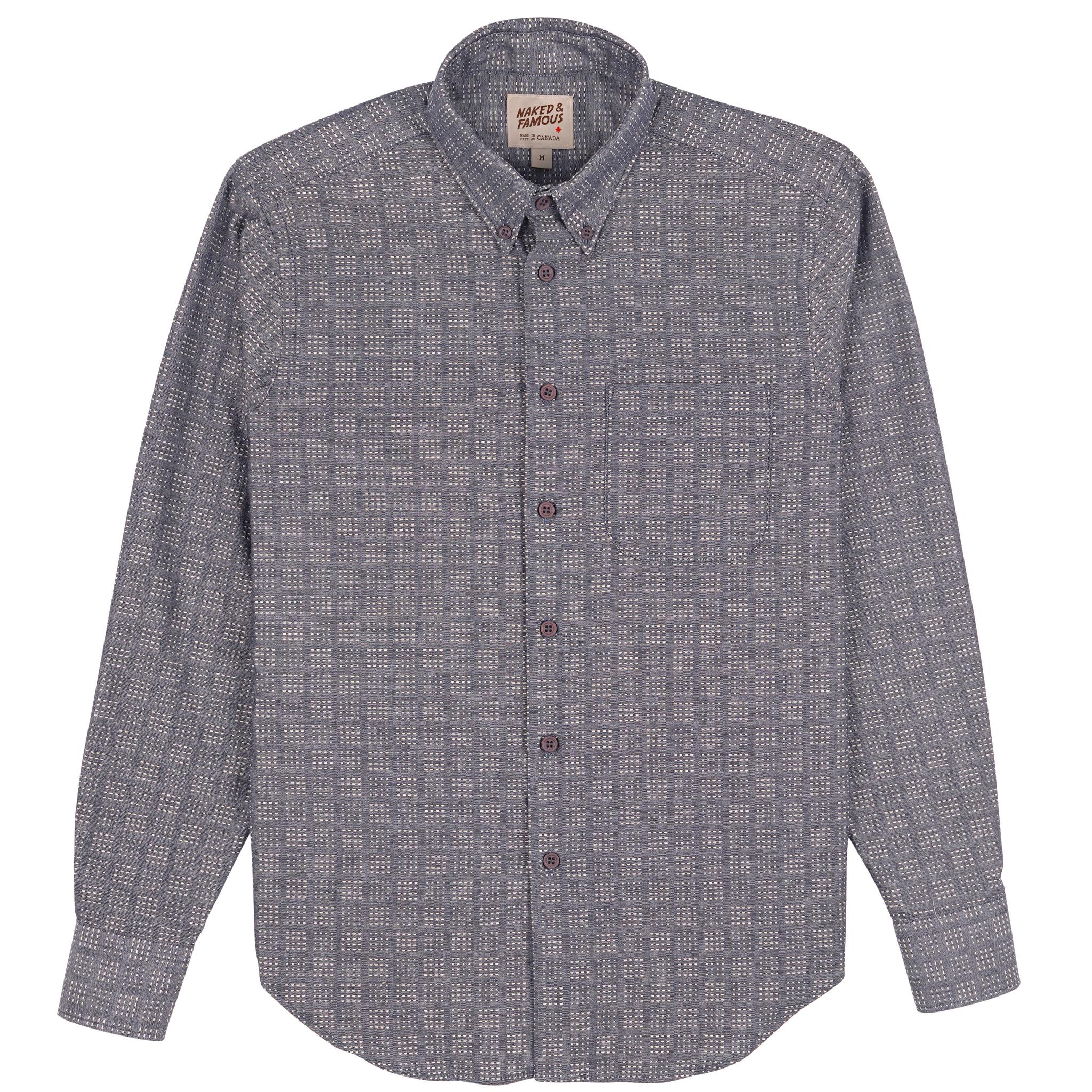 Sashiko Dobby - Chambray - Easy Shirt