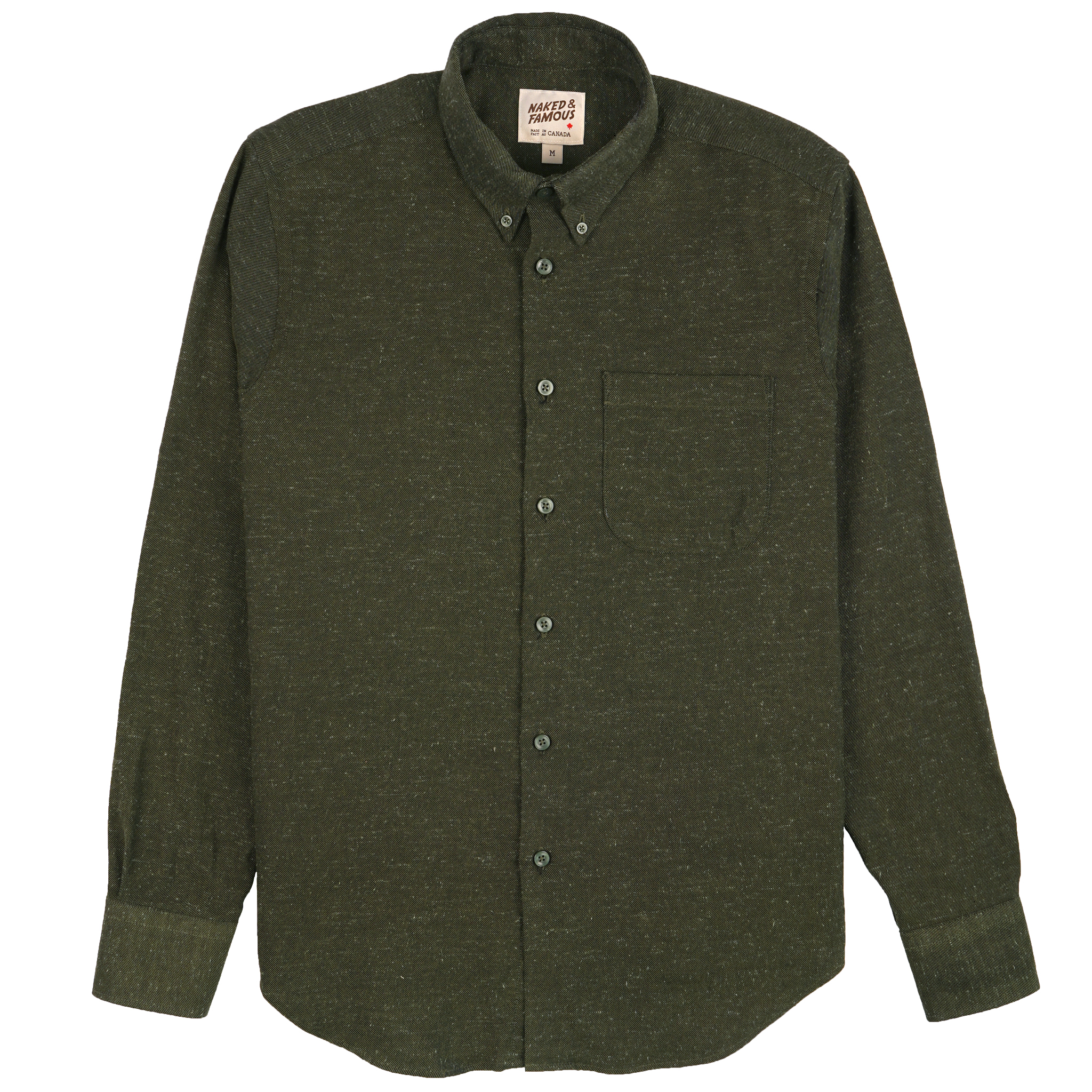 Silk Blend Nep Twill - Green - Easy Shirt