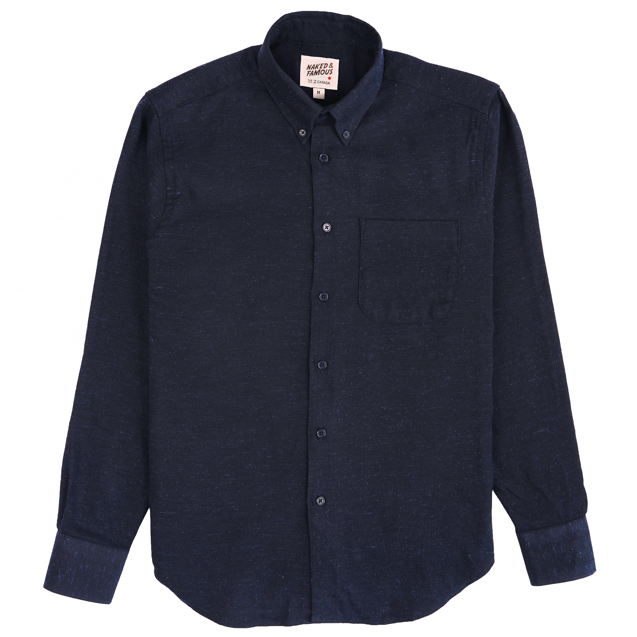 Silk Blend Nep Twill - Navy - Easy Shirt