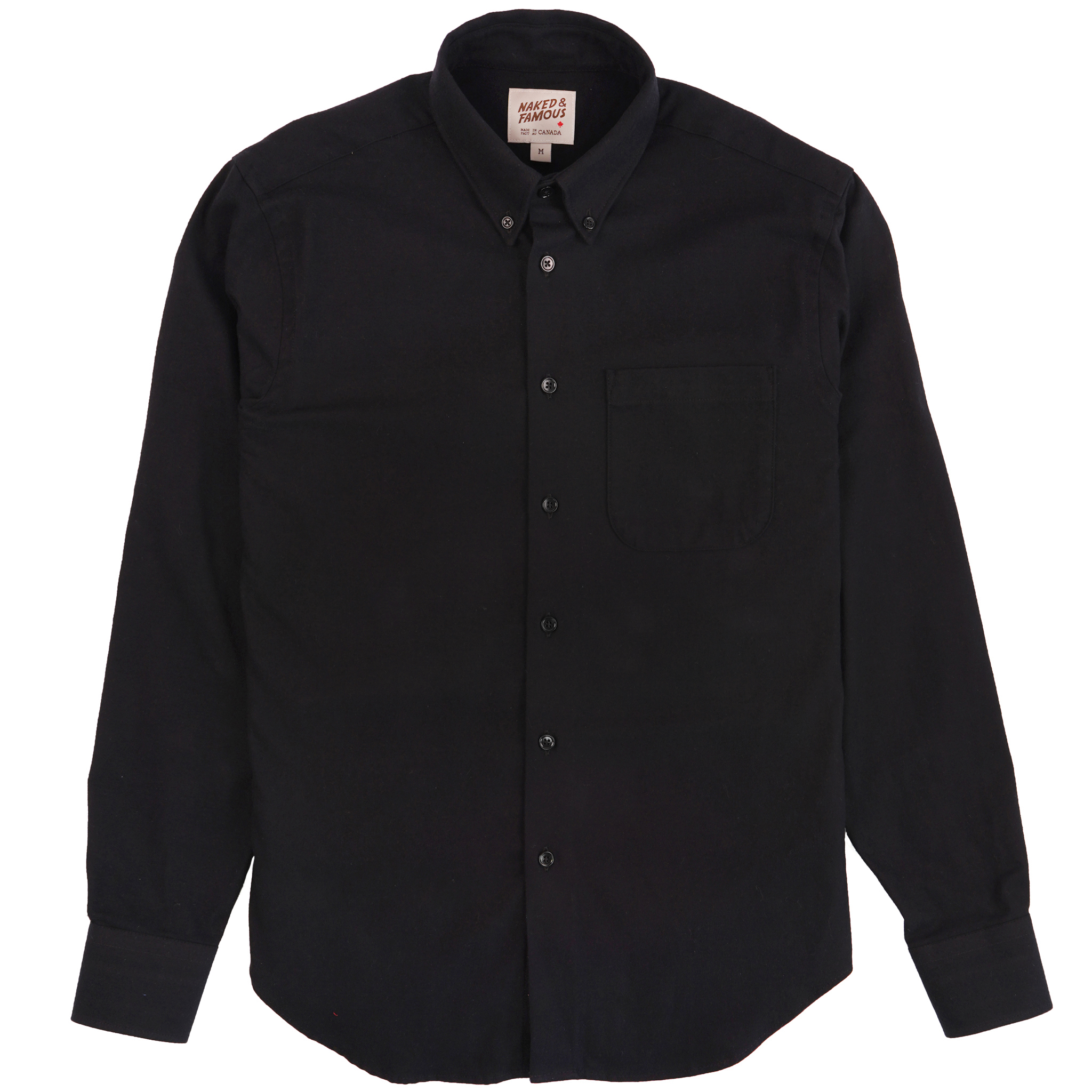 Solid Flannel - Black - Easy Shirt