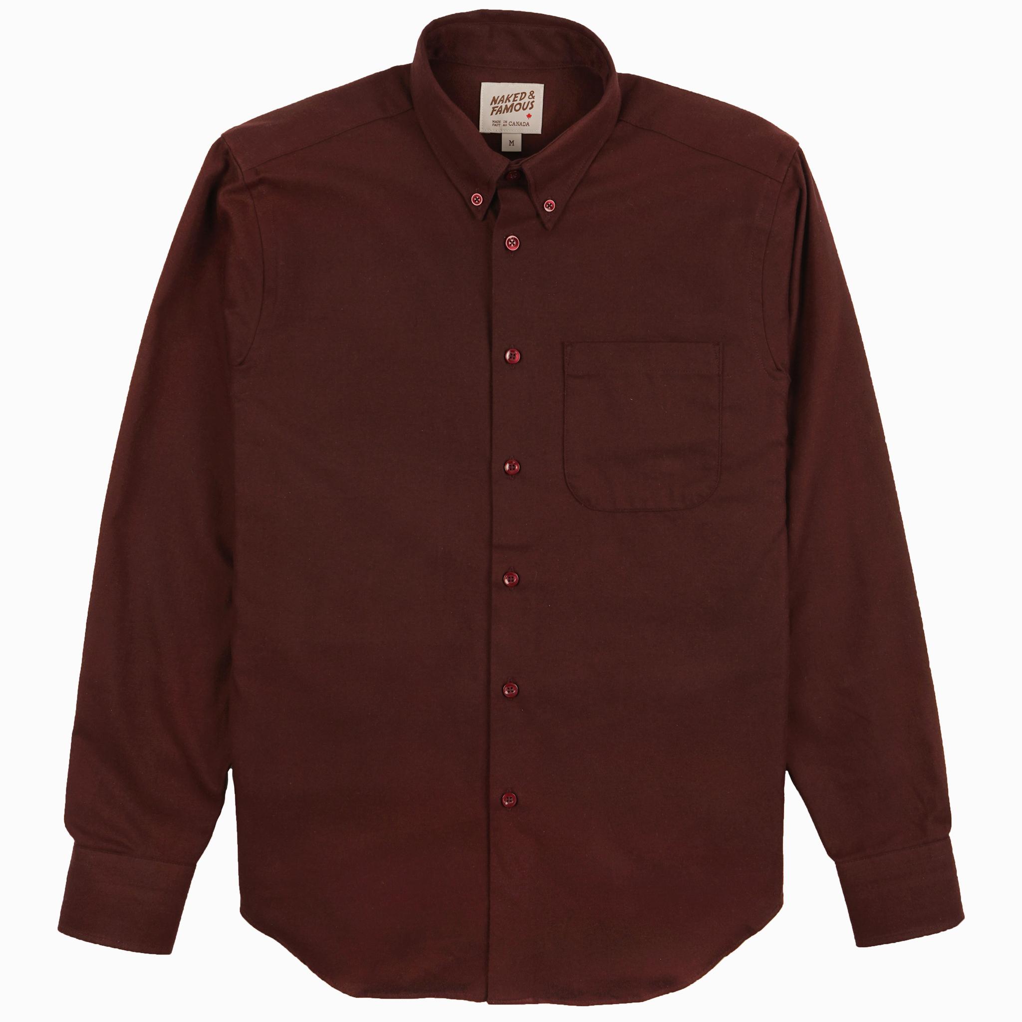 Solid Flannel - Burgundy - Easy Shirt