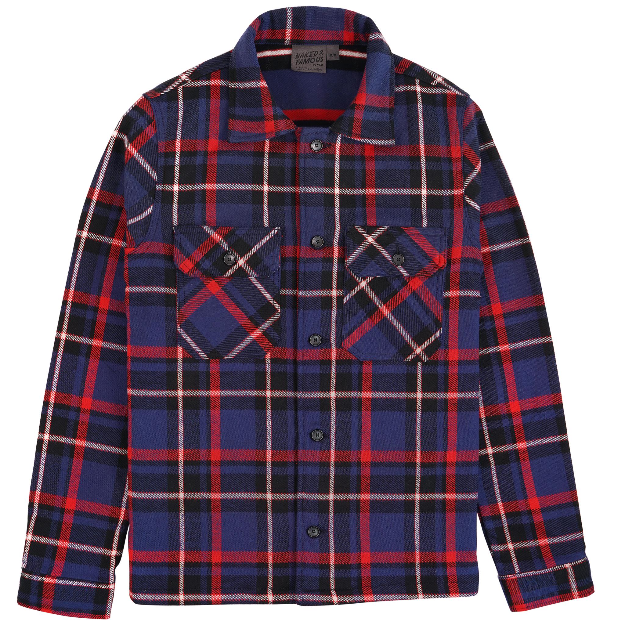 heavyweight Vintage Flannel - Navy - Workshirt