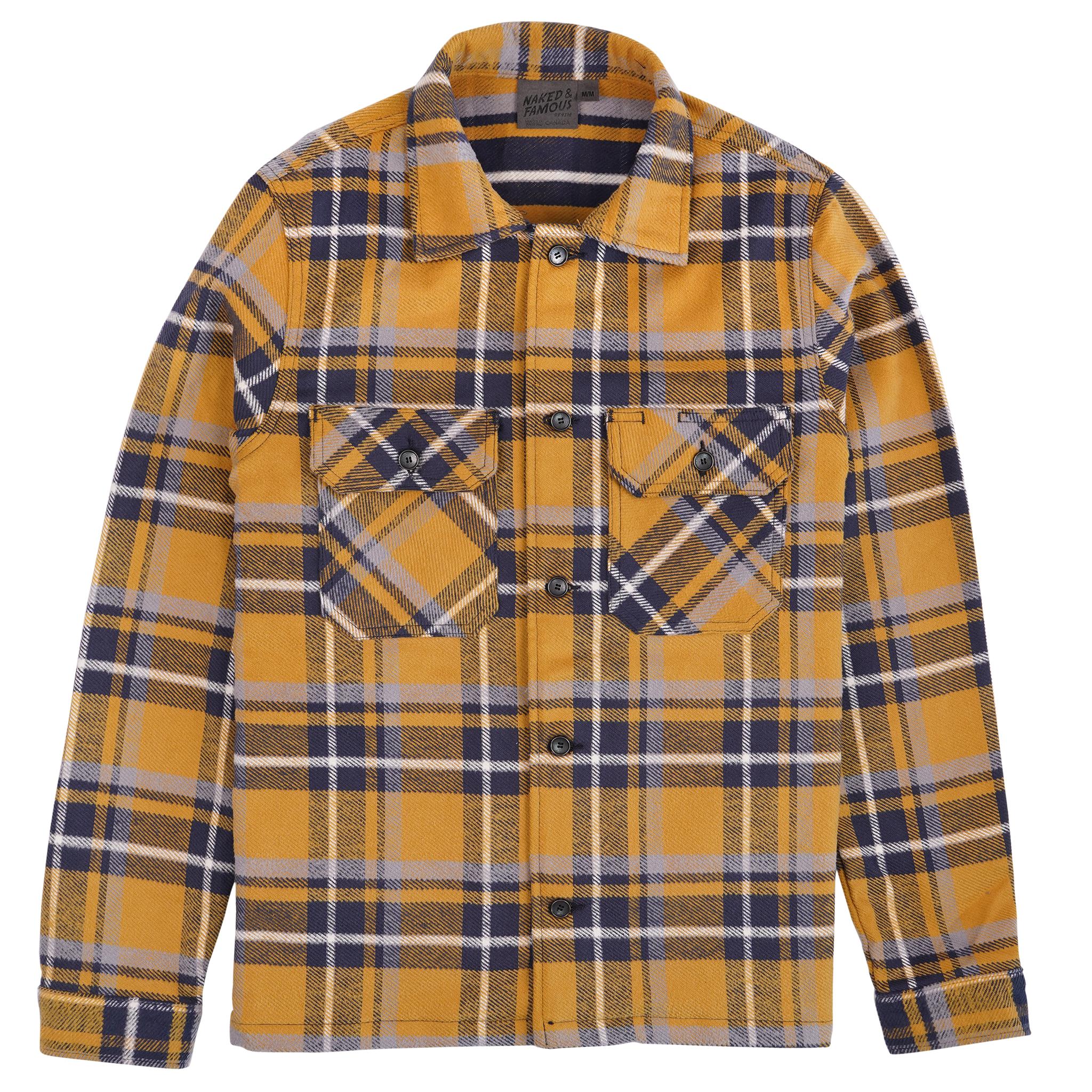 heavyweight Vintage Flannel - Yellow - Workshirt