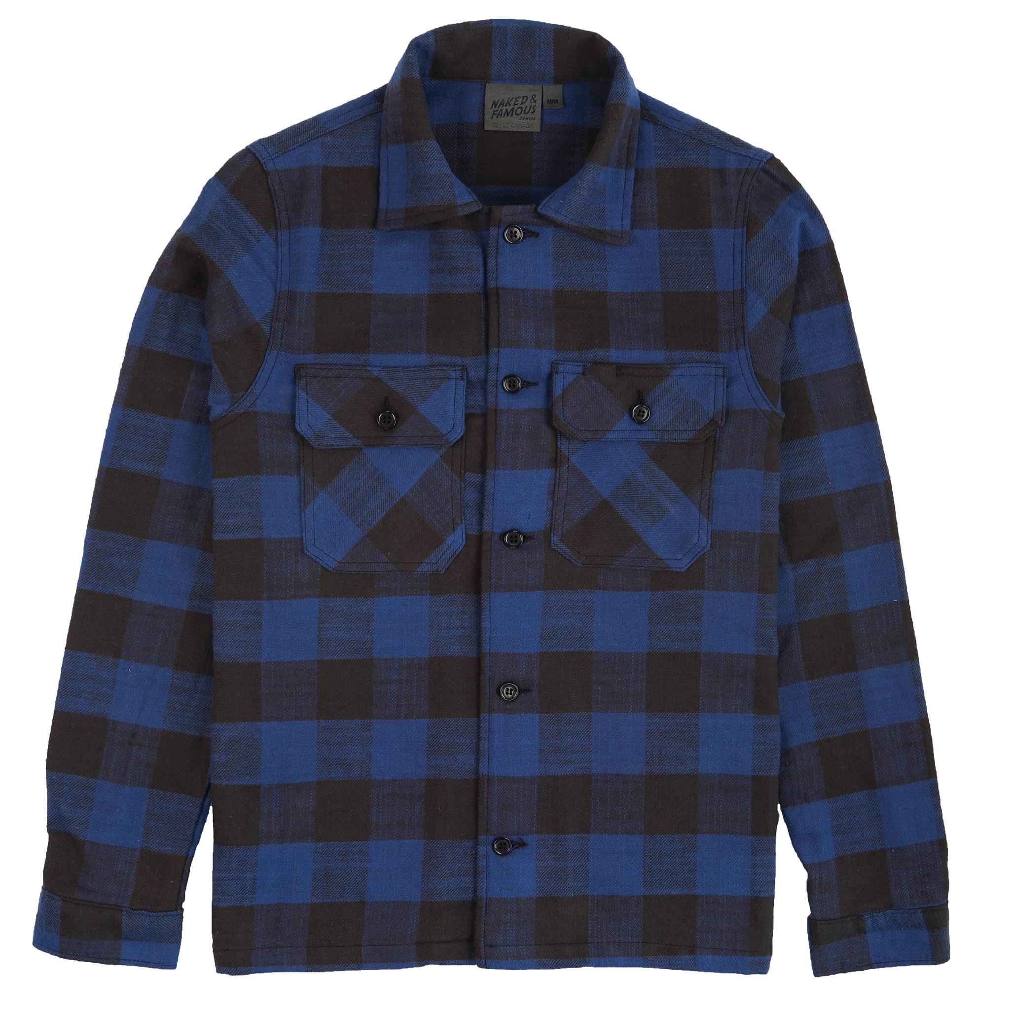 Slubby Buffalo Check - Blue - Workshirt