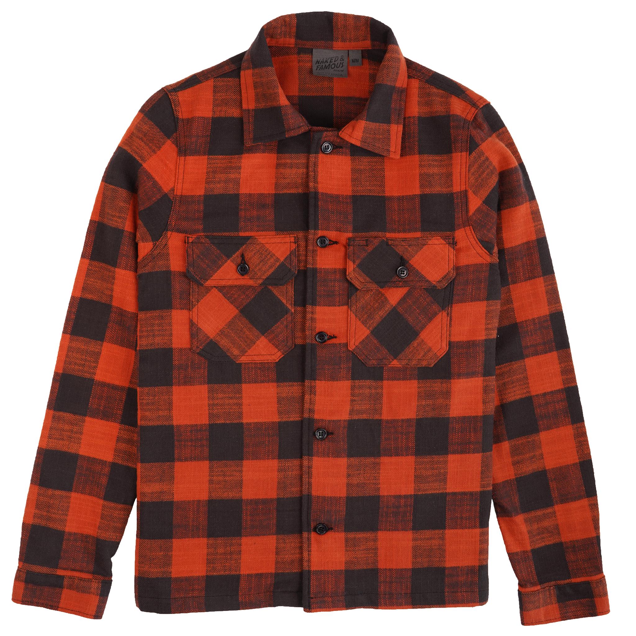 Slubby Buffalo Check - Orange - Workshirt