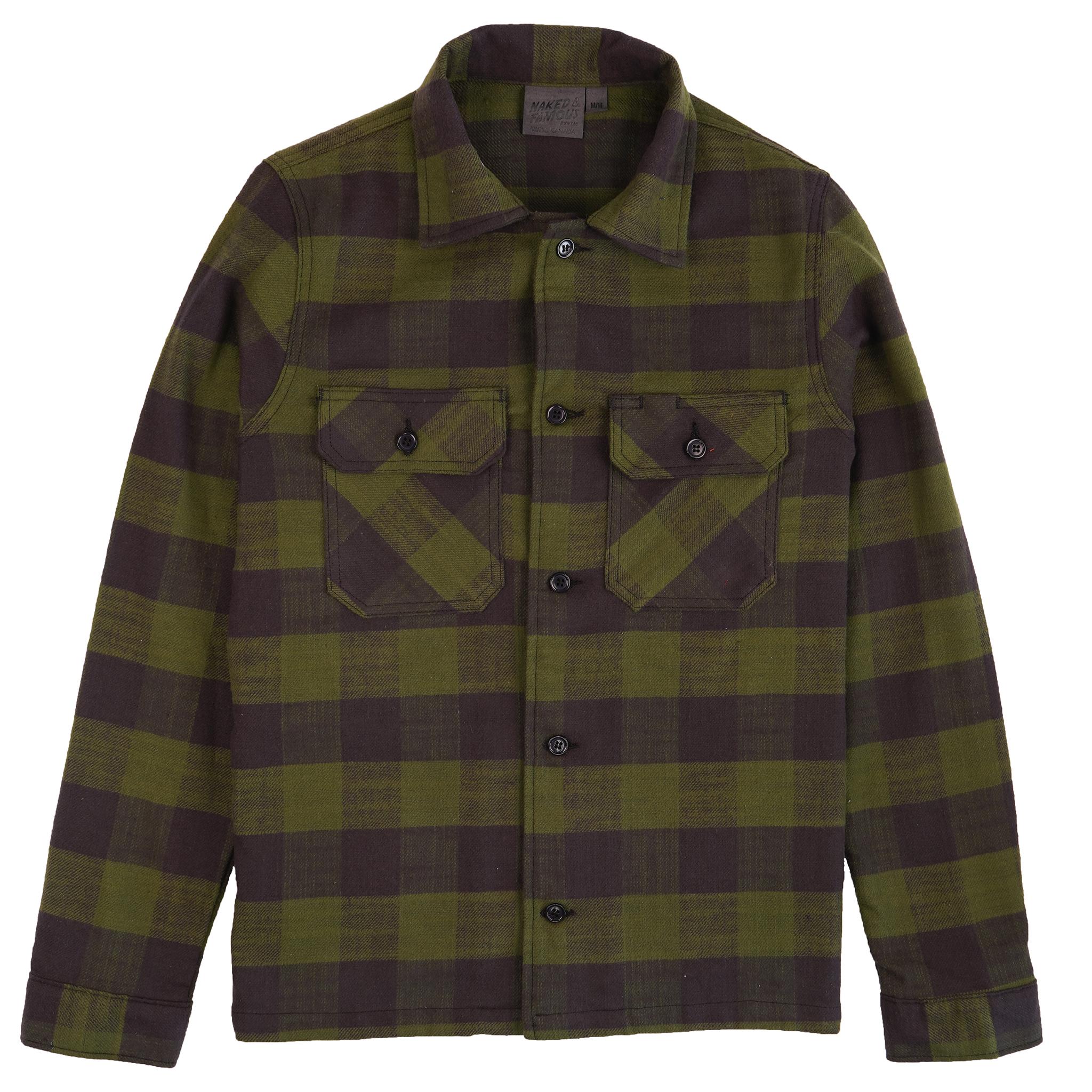 Slubby Buffalo Check - Green - Workshirt