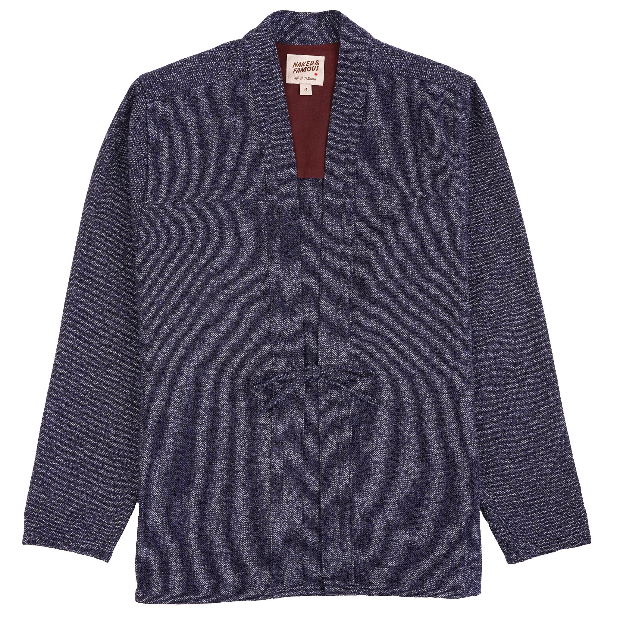 Cotton Tweed - Blue - Kimono Shirt