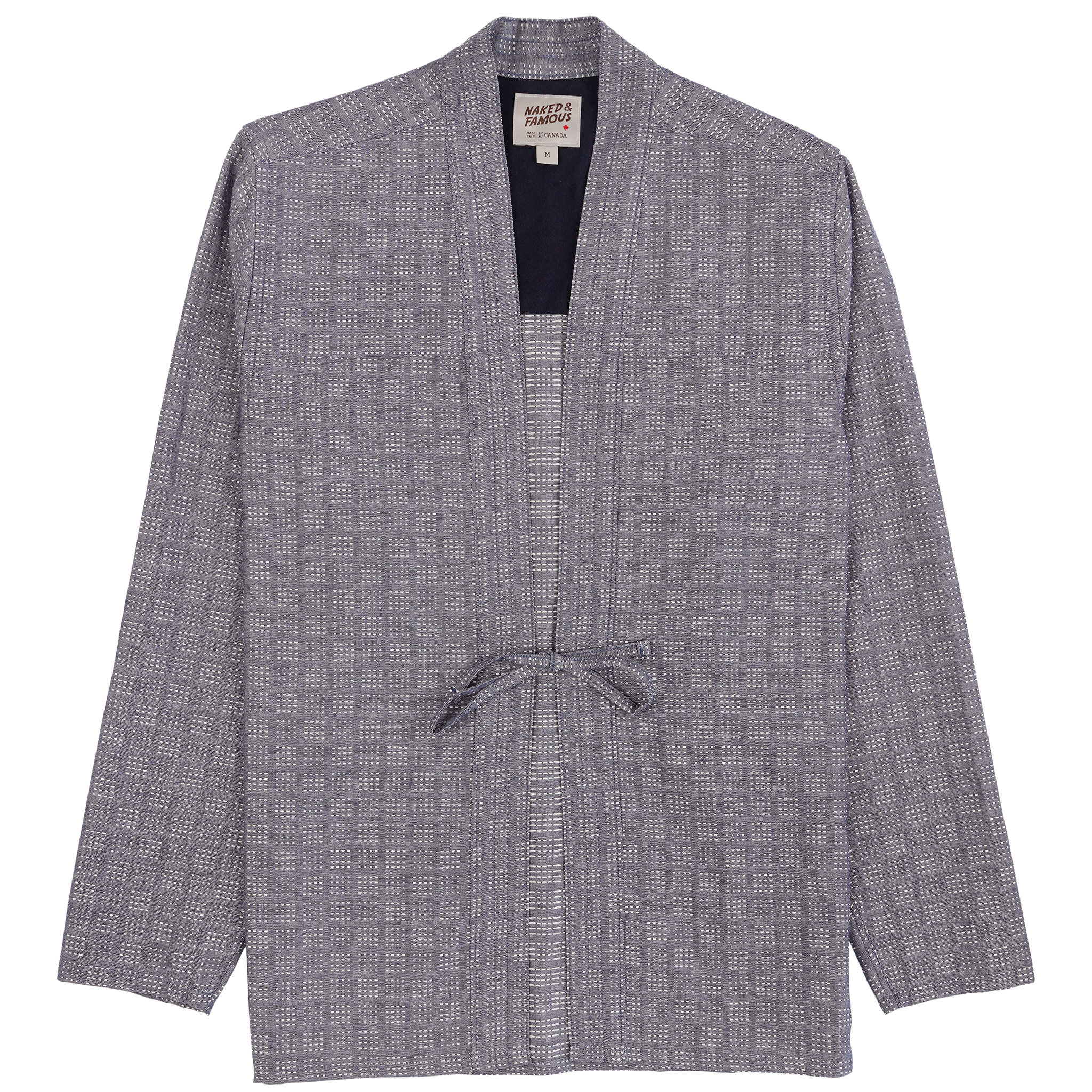 Sashiko Dobby - Chambray - Kimono Shirt