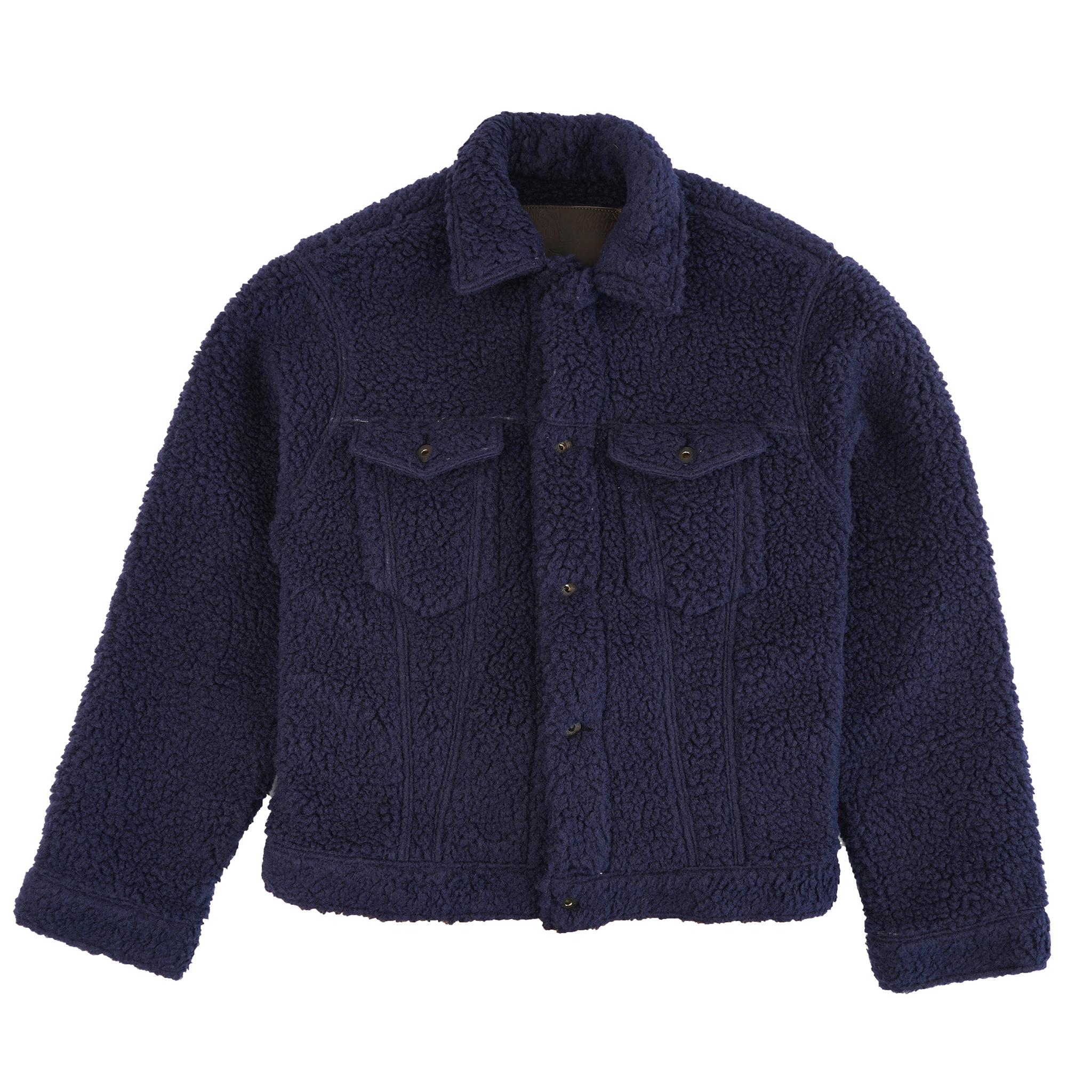 Sherpa Fleece - Navy - Denim Jacket
