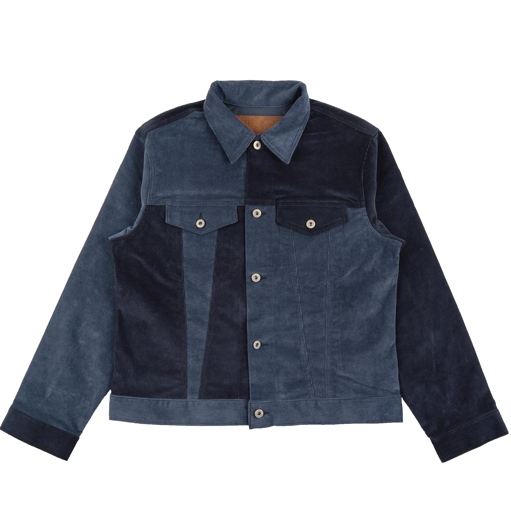Indigo Colorblock Corduroy - Denim Jacket