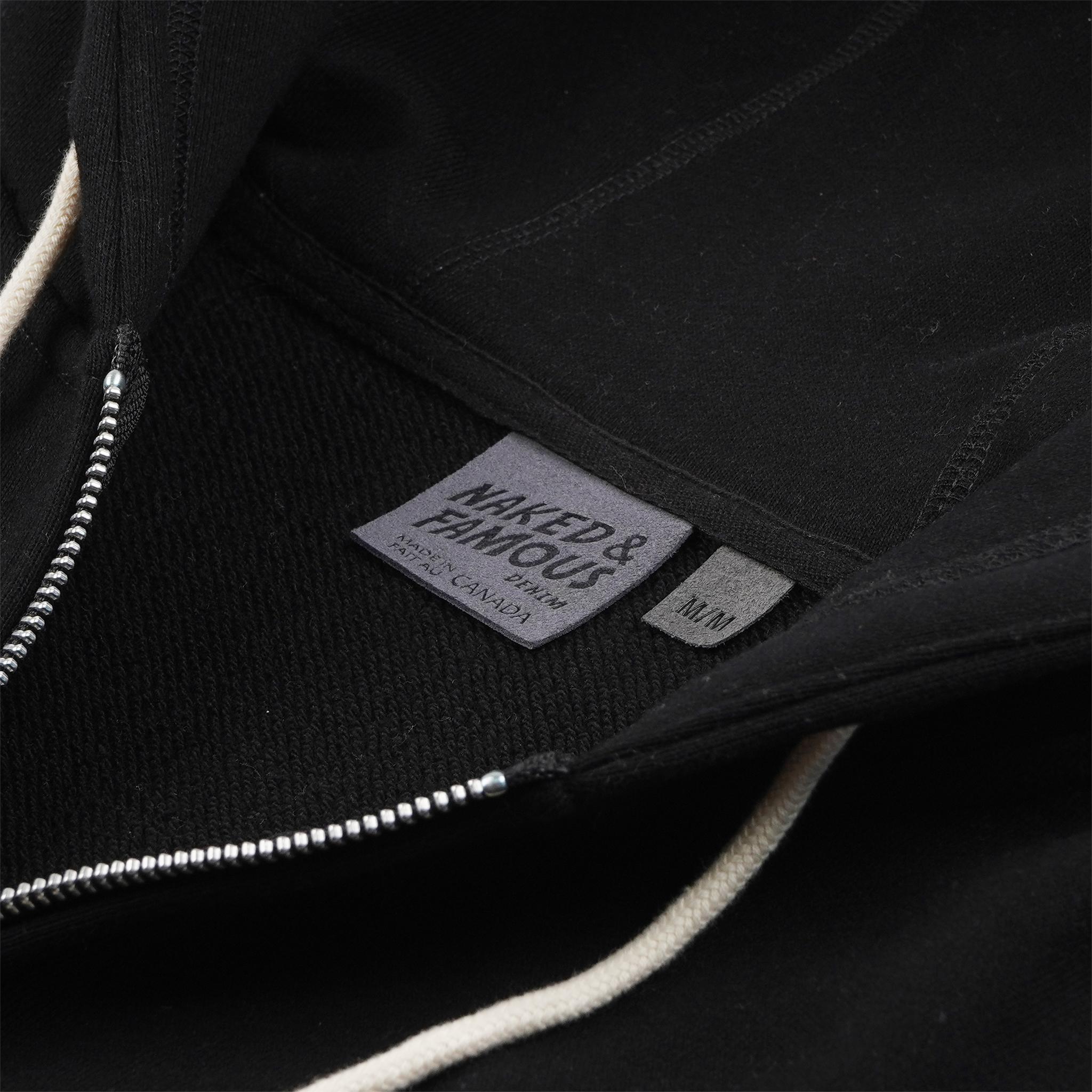 Zip Hoodie Black collar view