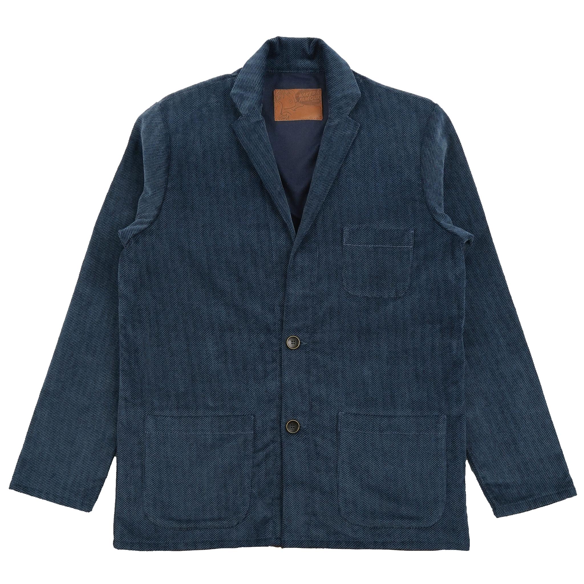 Heavy Velvet Twill - Blue - Patch Pocket Blazer