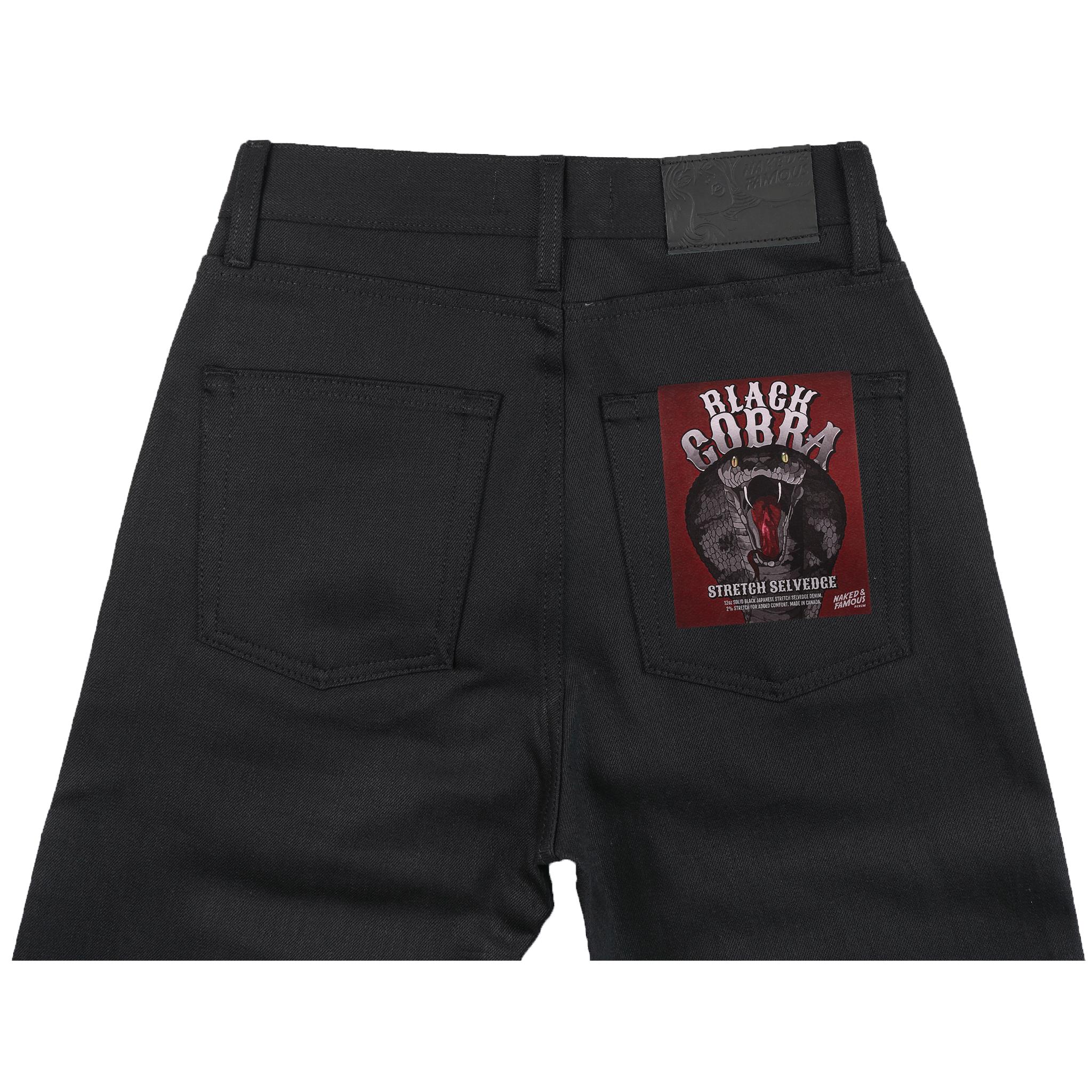 Women's Black Cobra jeans back view