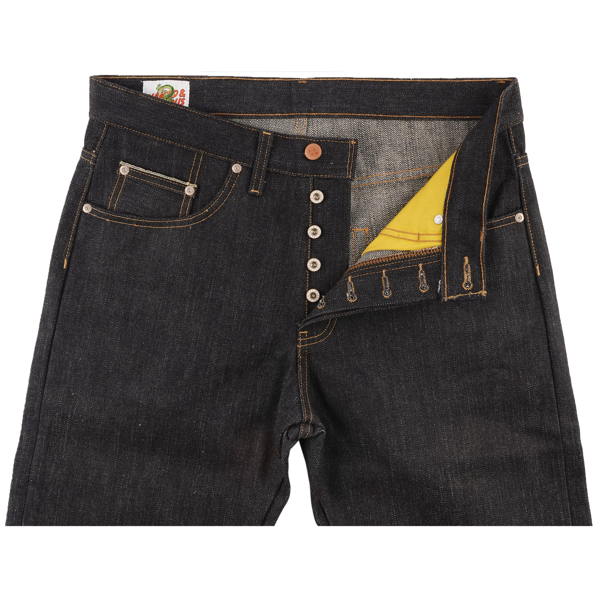 Vegeta Super Saiyan Selvedge Jeans front view