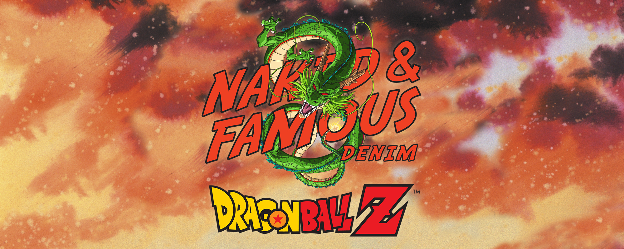 Dragon Ball Z x Naked & Famous Denim Dual Logo