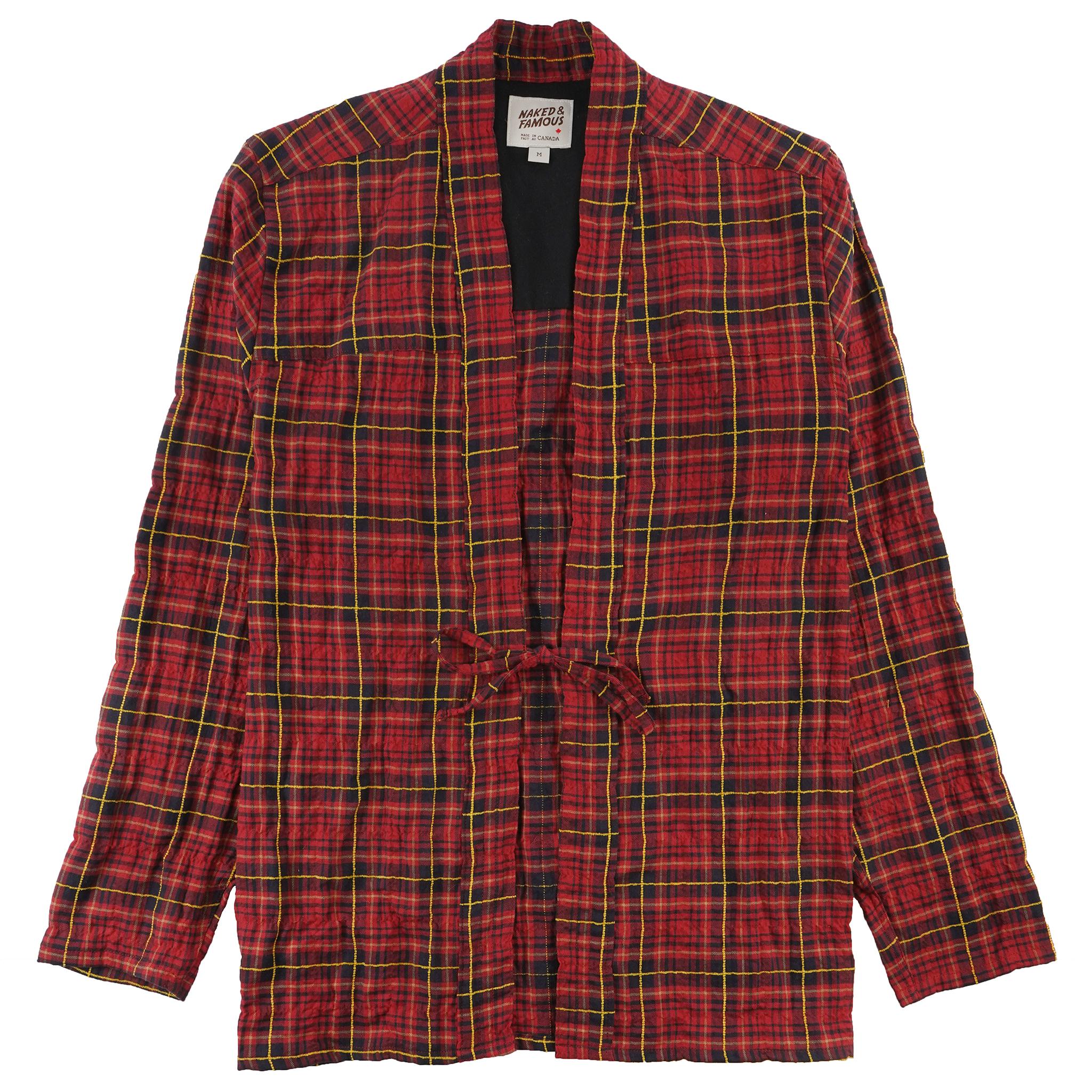 Folk Flannel - Red/Yellow - Kimono Shirt