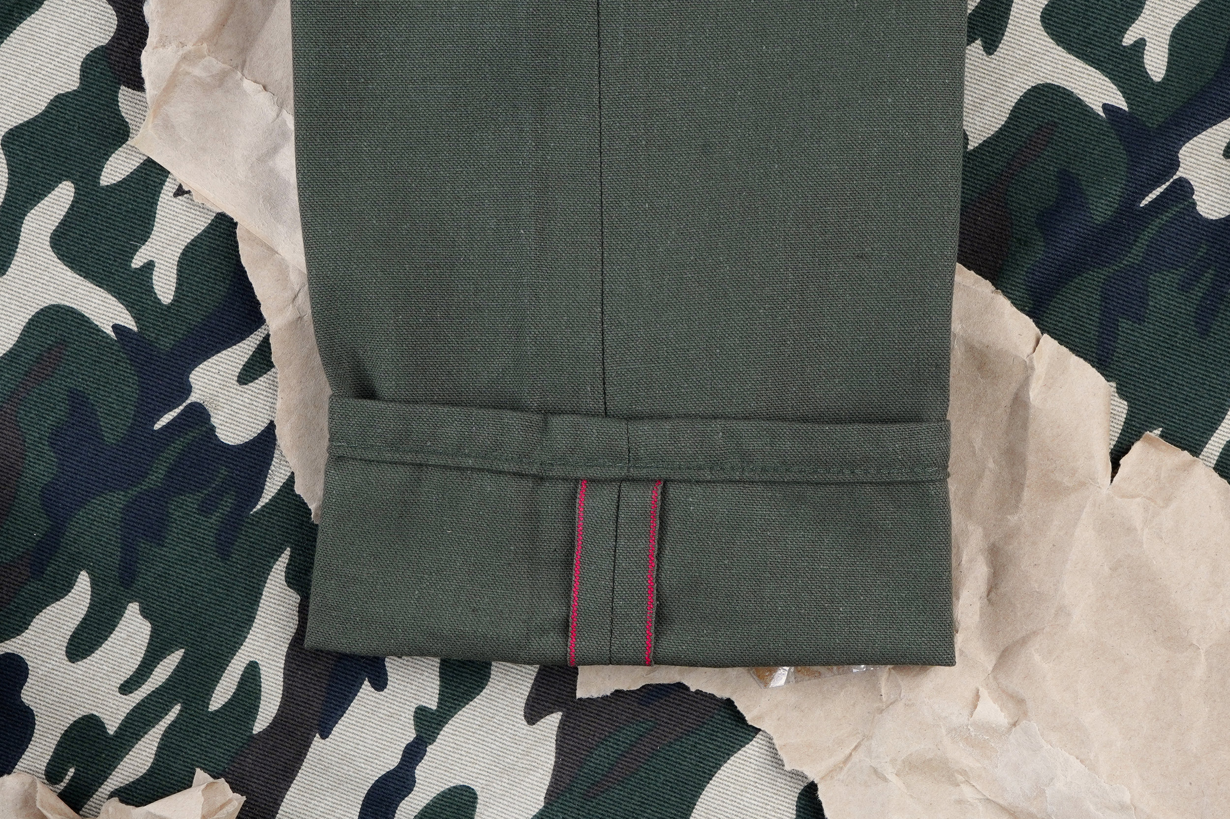 Army Green Duck Canvas Selvedge ID