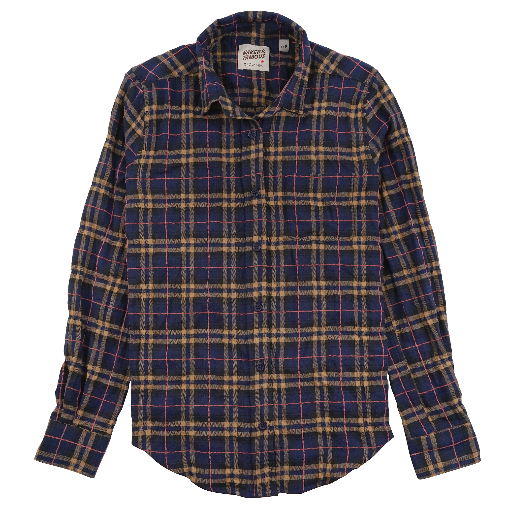 Folk Flannel - Navy/Pink - Country Shirt