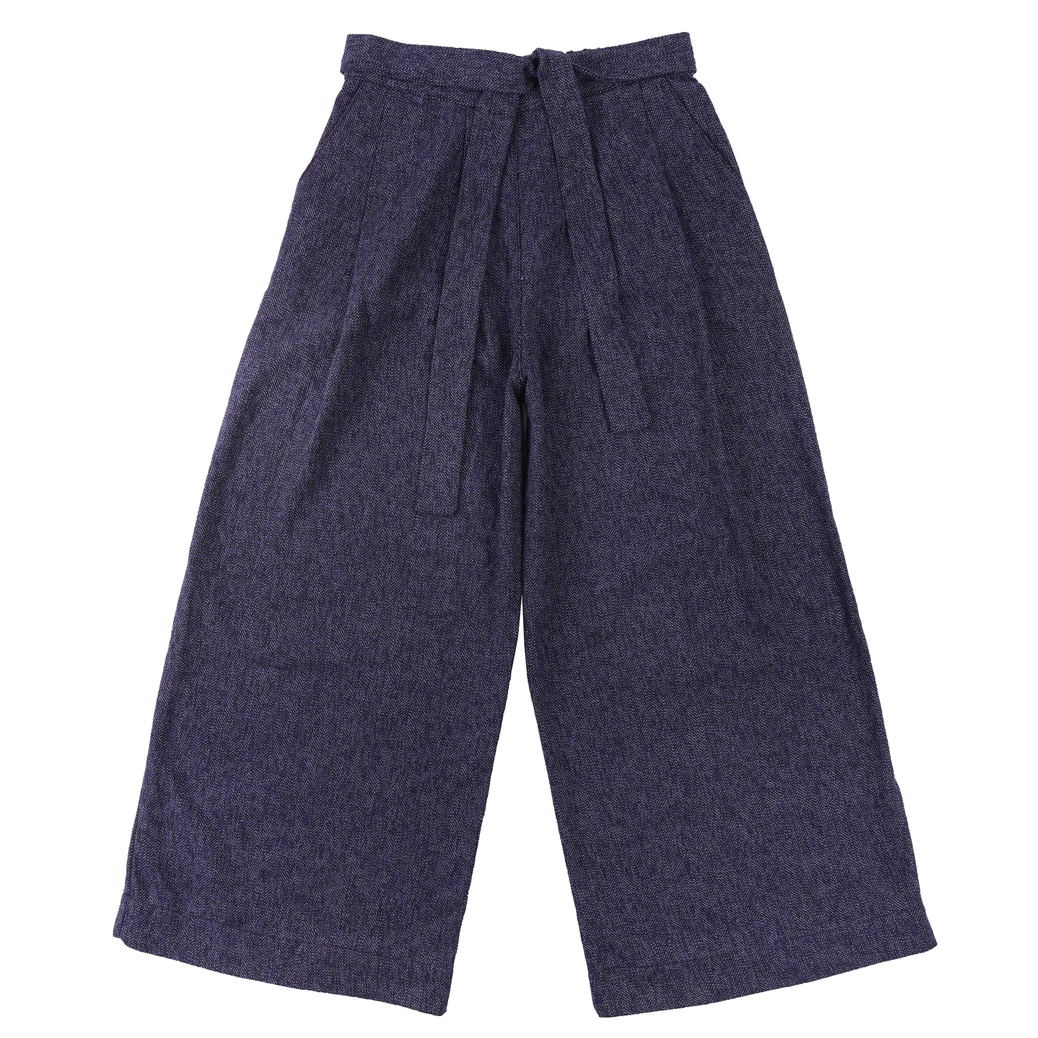 Cotton Tweed - Blue - Wide Pant