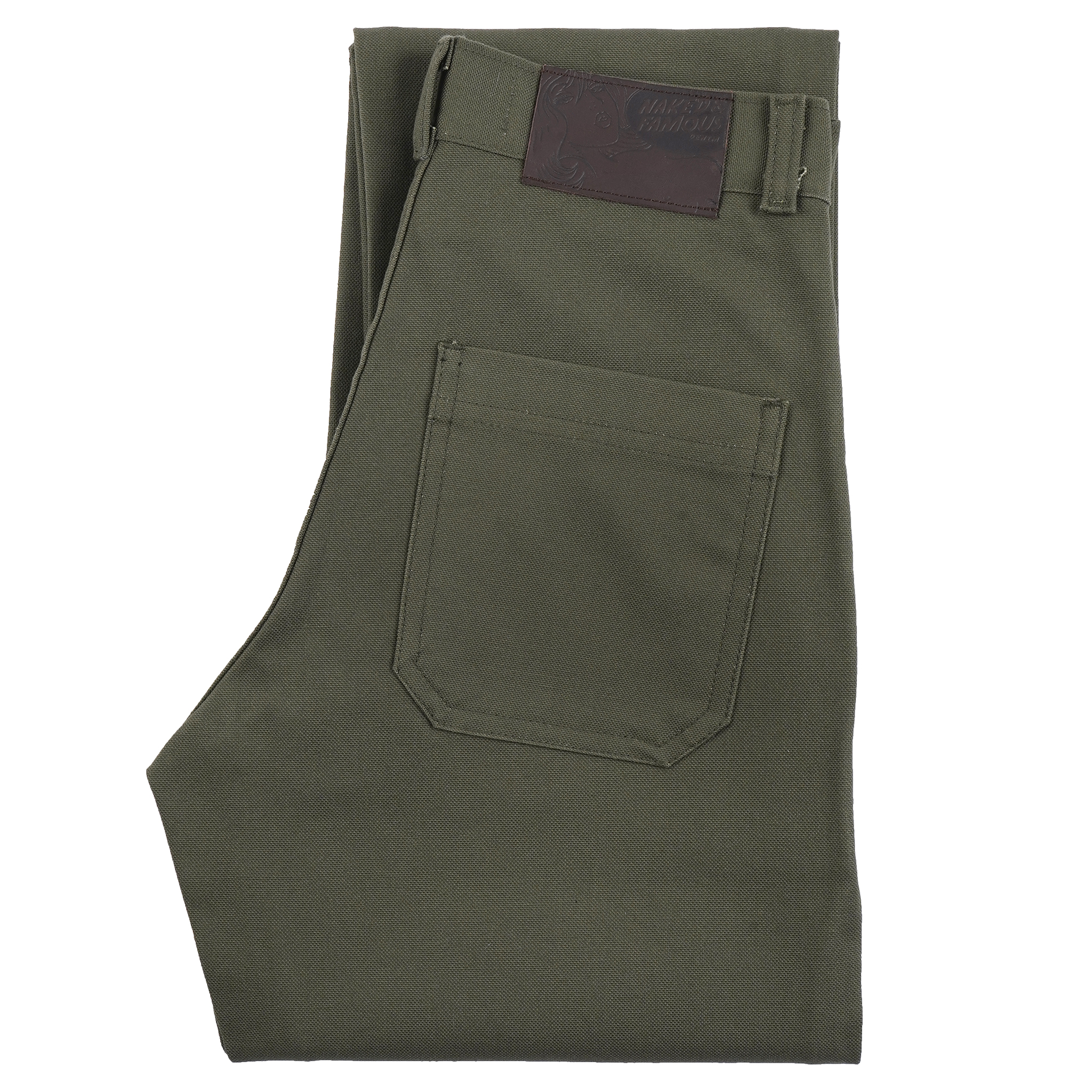 Women's Fatigue Pant Green Canvas - folded