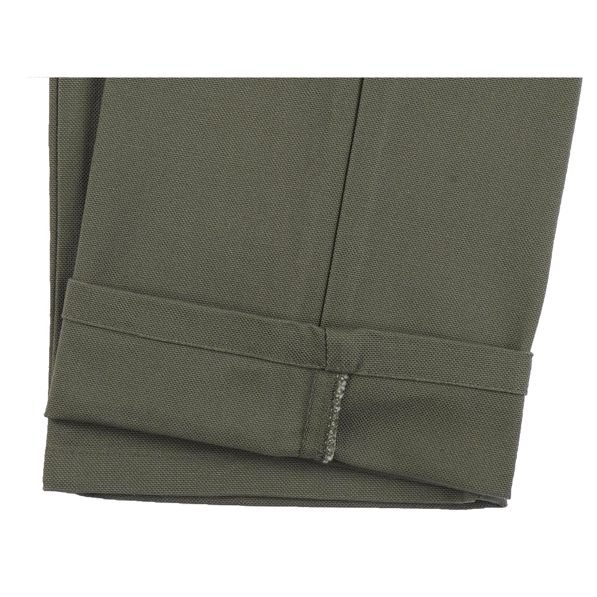 Women's Fatigue Pant Green Canvas - hem