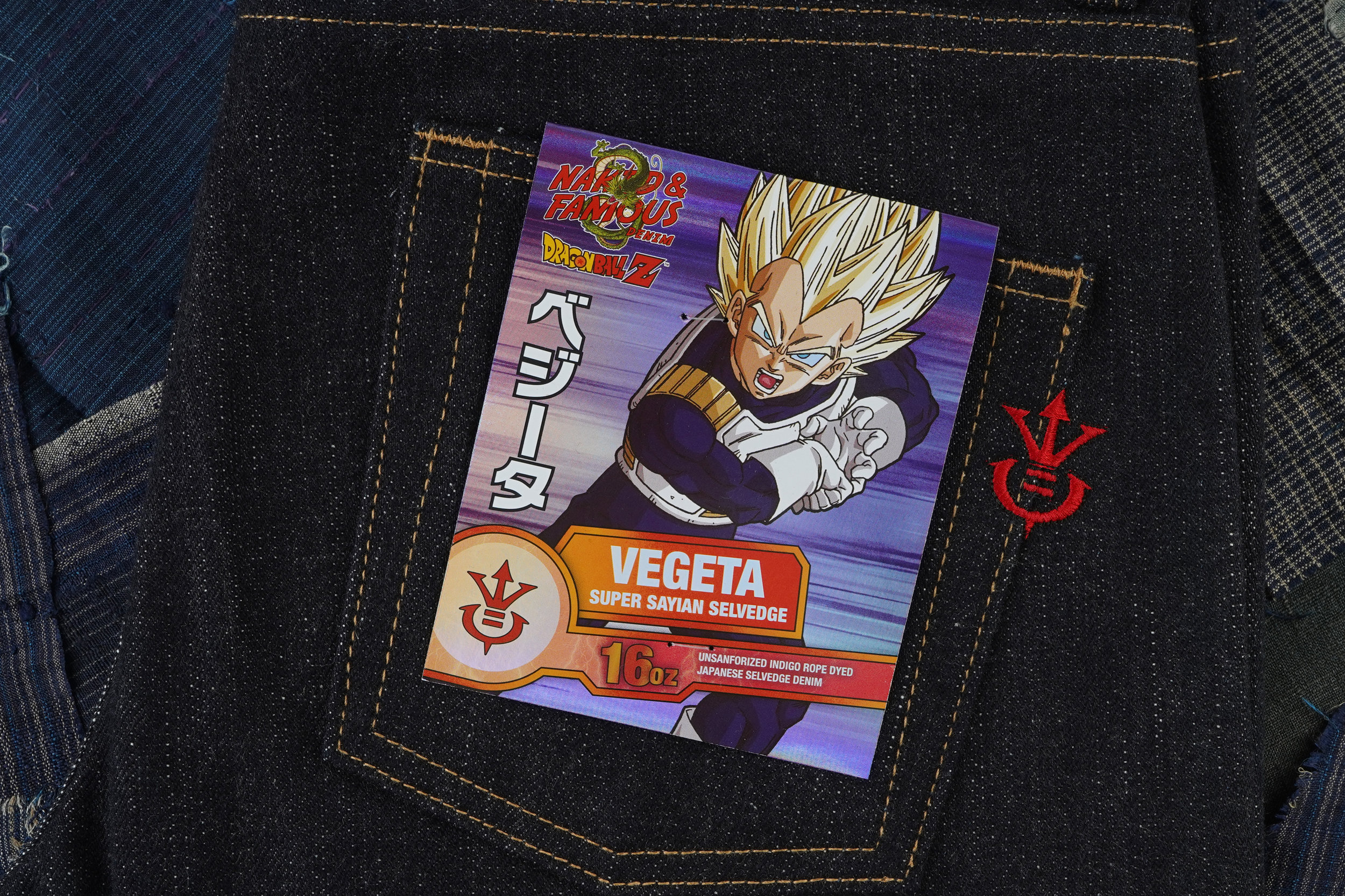 Vegeta Super Saiyan Selvedge - Pocket Flasher