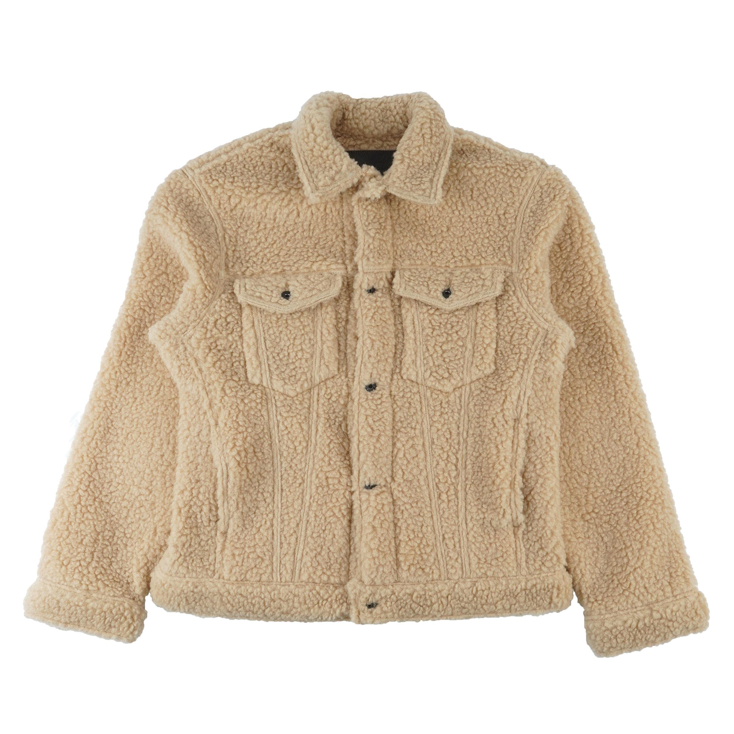 Sherpa Fleece - Coffee - Denim Jacket