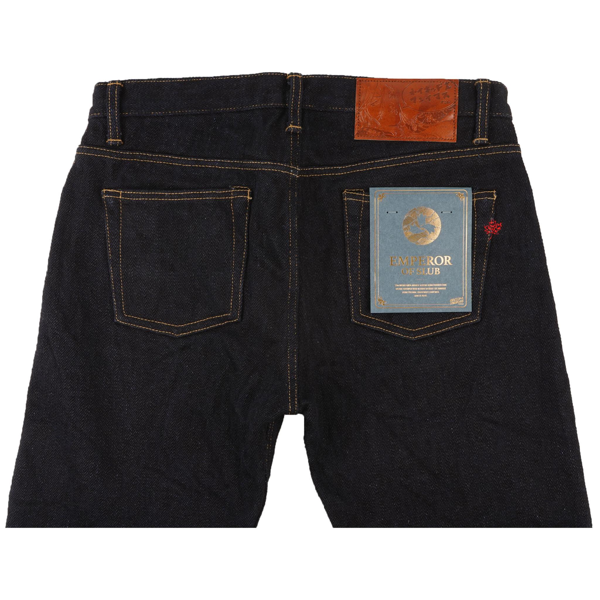 Emperor of Slub Grand Blue Jeans - back