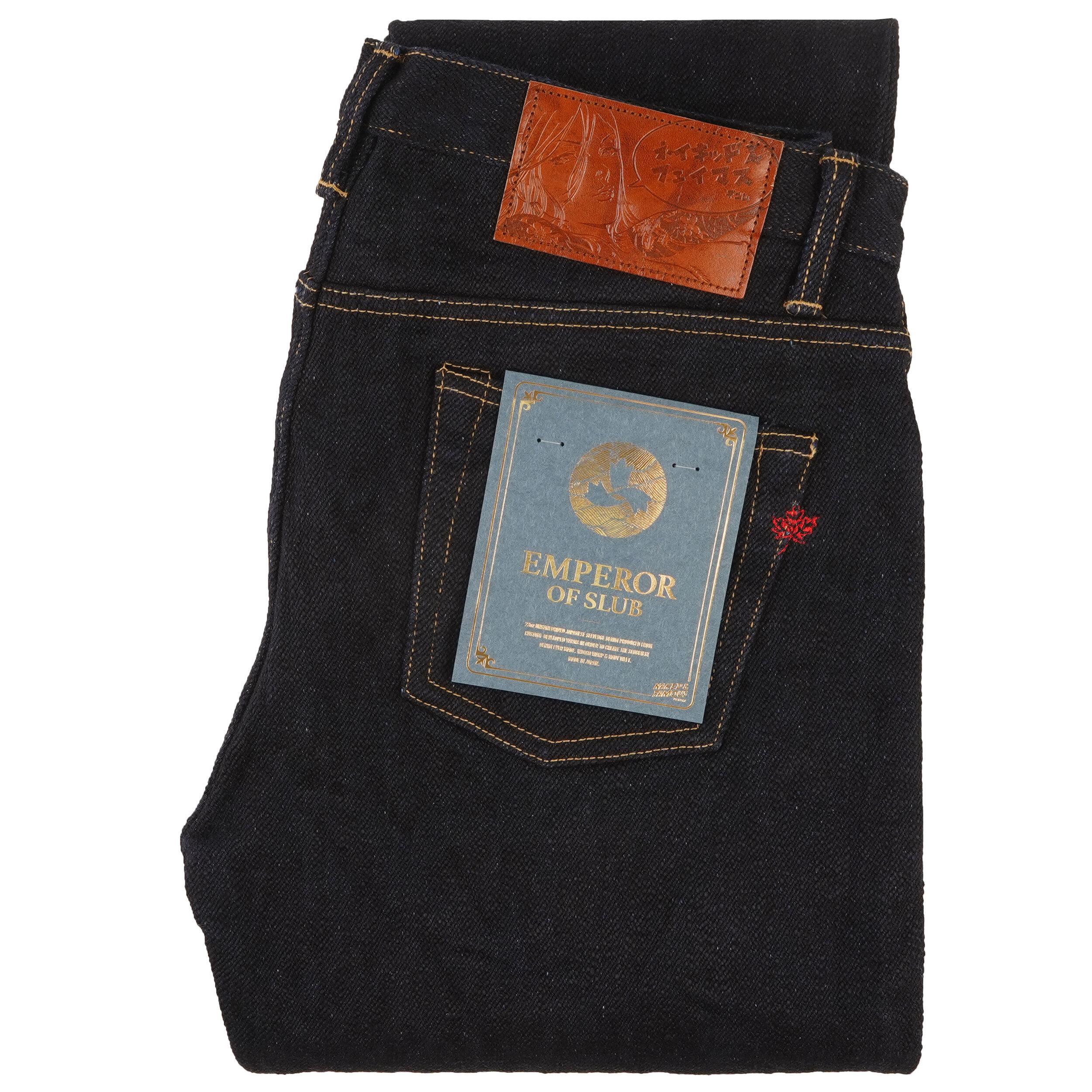 Emperor of Slub Grand Blue Jeans - folded